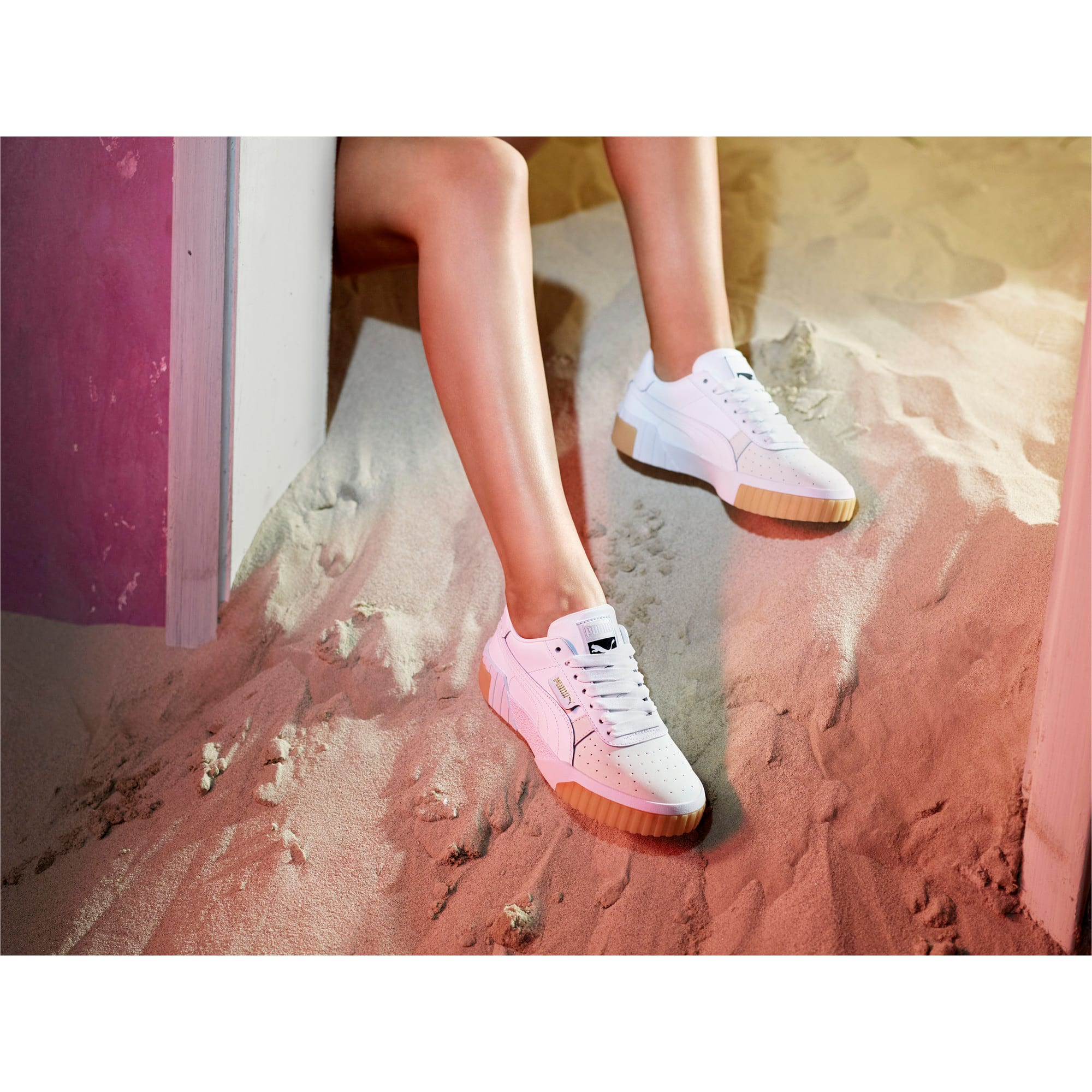 Thumbnail 7 of Zapatillas de mujer Cali Exotic, Puma White-Puma White, medium