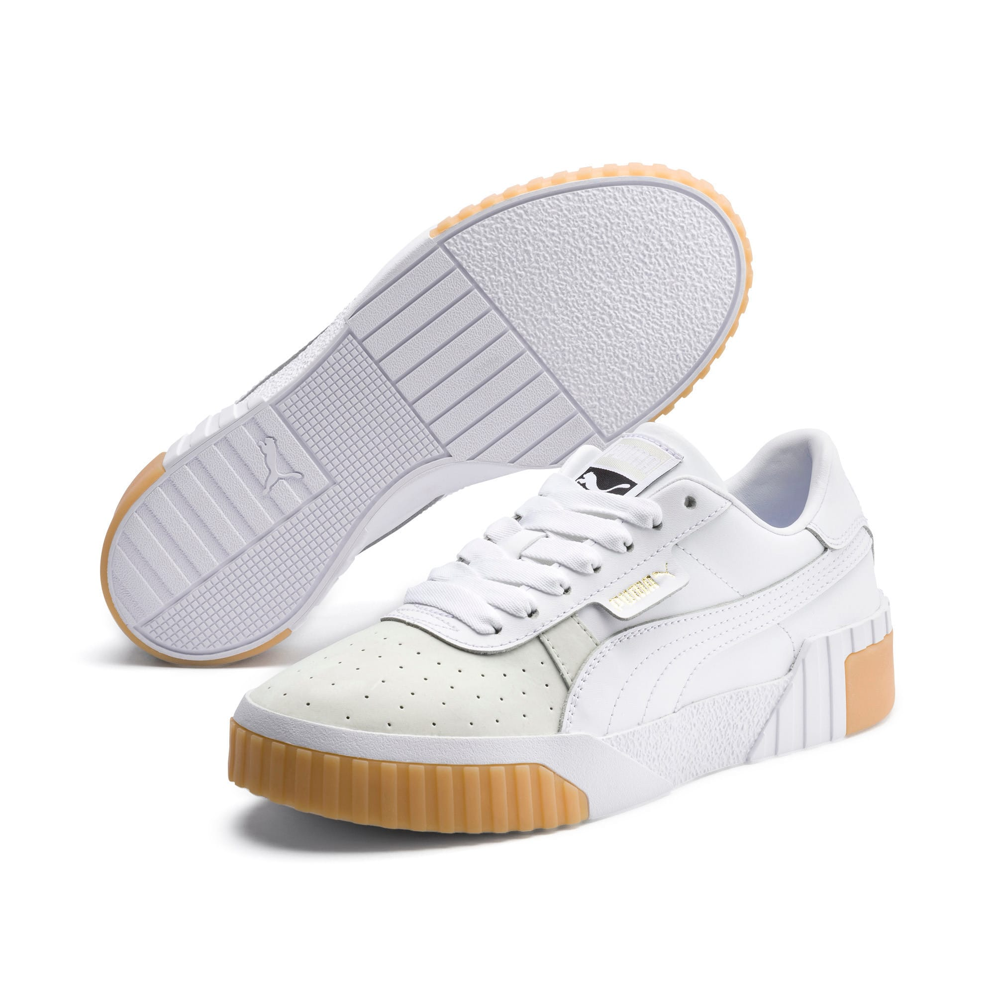 Thumbnail 2 of Zapatillas de mujer Cali Exotic, Puma White-Puma White, medium