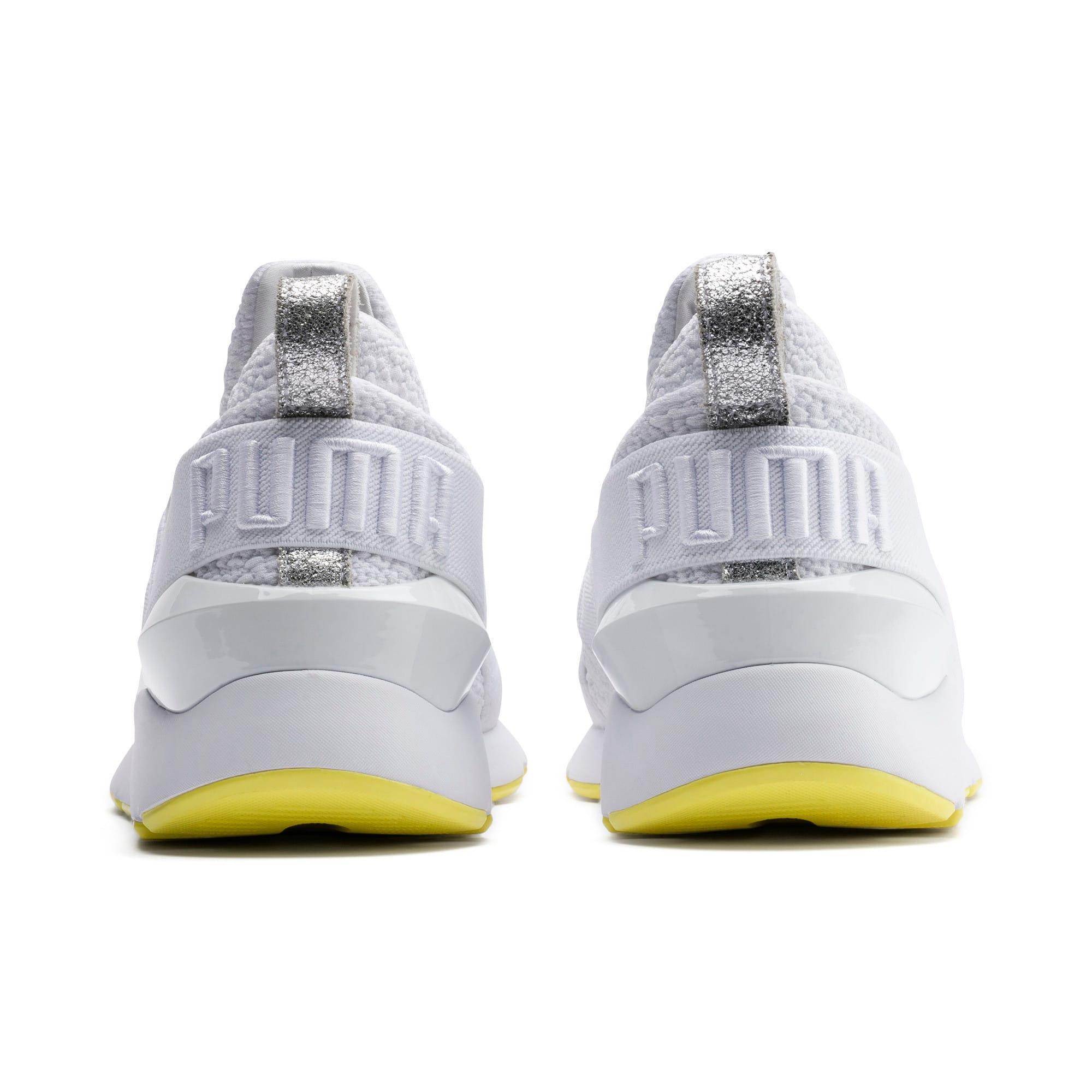 Thumbnail 3 of プーマ ミューズ TZ ウィメンズ, Puma White-Blazing Yellow, medium-JPN