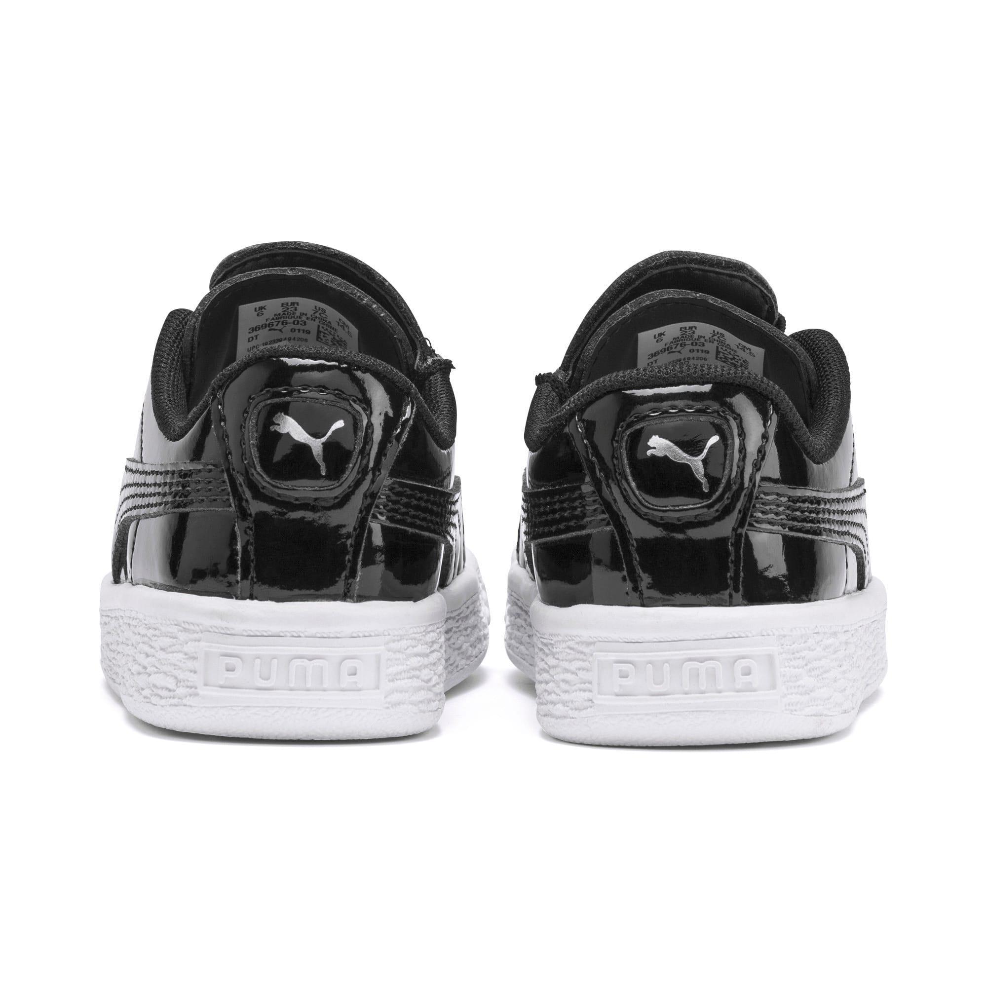 Thumbnail 3 of Basket Crush Patent AC Toddler Shoes, Puma Black-Puma White, medium