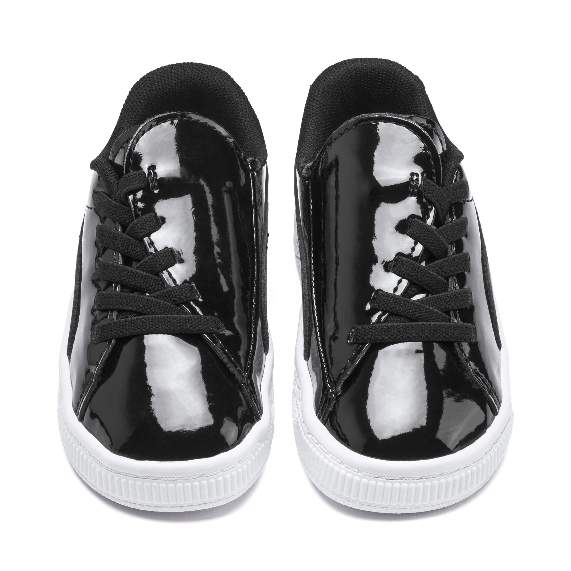 Thumbnail 7 of Basket Crush Patent AC Toddler Shoes, Puma Black-Puma White, medium