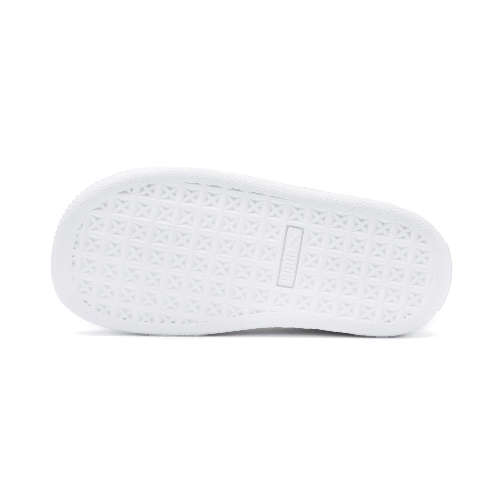 Thumbnail 4 of Basket Crush Patent AC Toddler Shoes, Puma Black-Puma White, medium