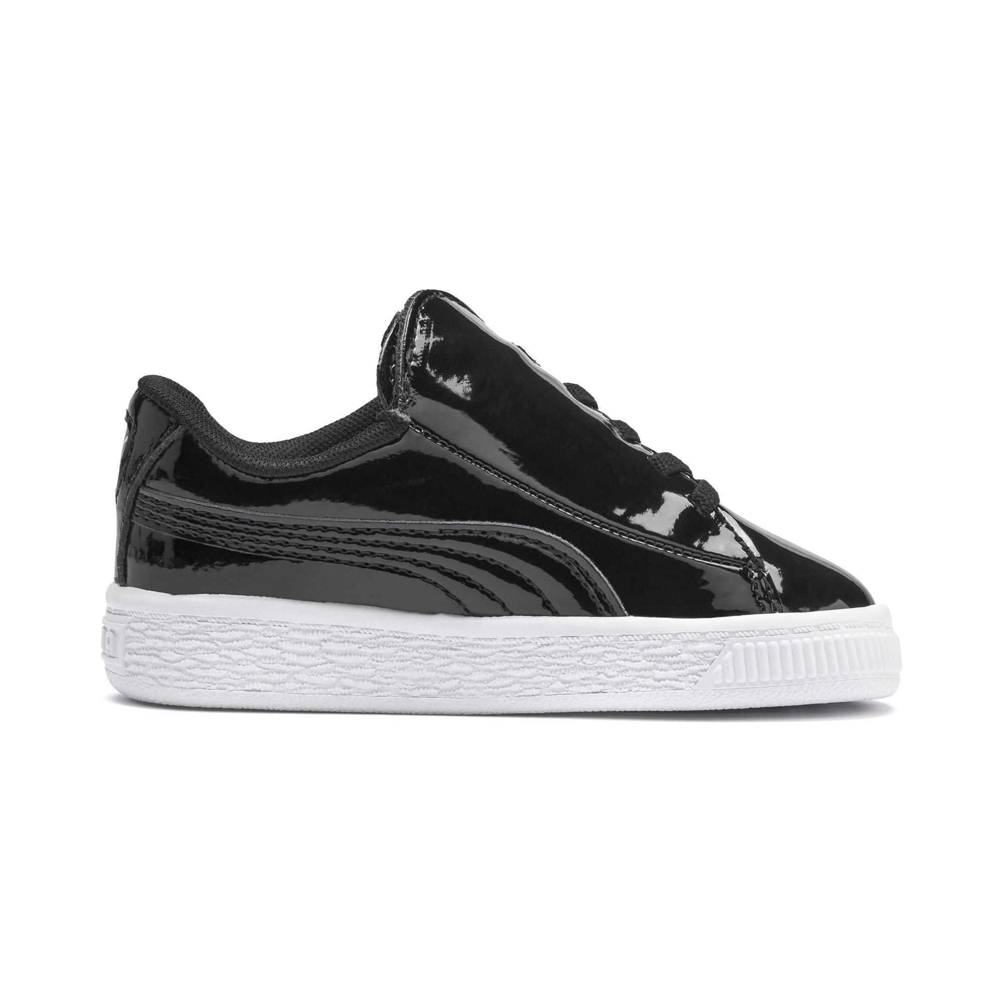 Thumbnail 5 of Basket Crush Patent AC Toddler Shoes, Puma Black-Puma White, medium