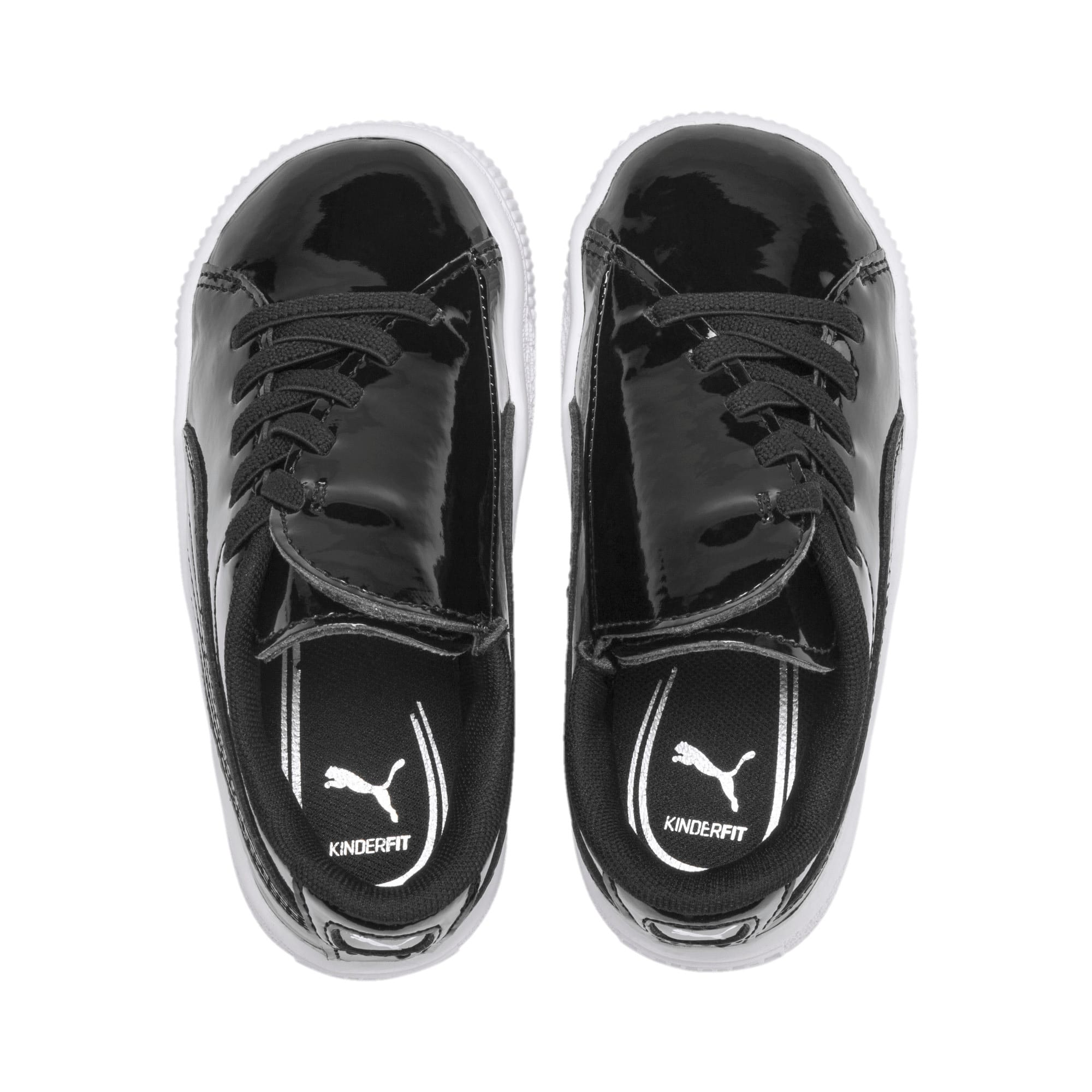 Thumbnail 6 of Basket Crush Patent AC Toddler Shoes, Puma Black-Puma White, medium