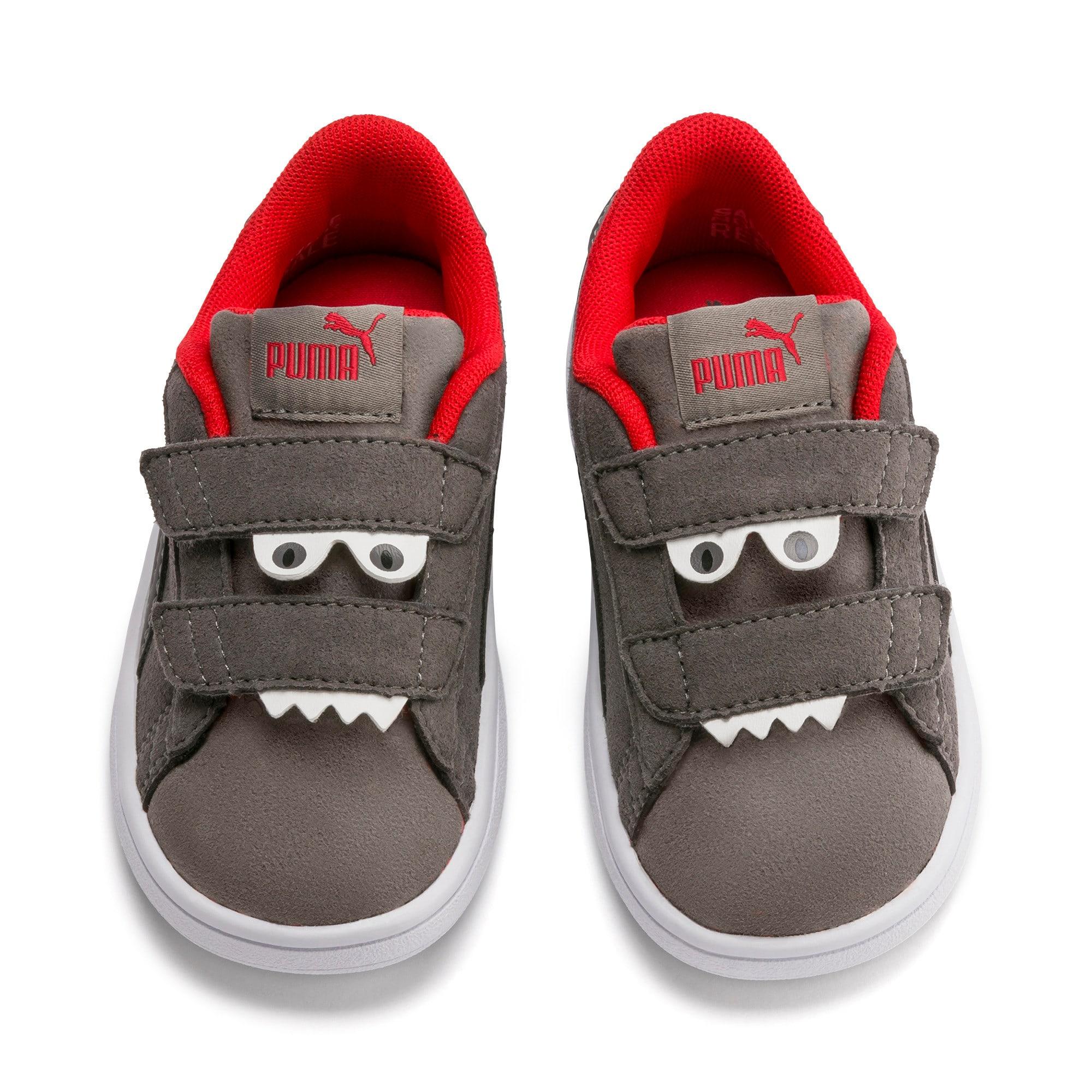 Thumbnail 7 of Smash v2 Monster Kinder Sneaker, Asphalt-C. Gray-Red-White, medium