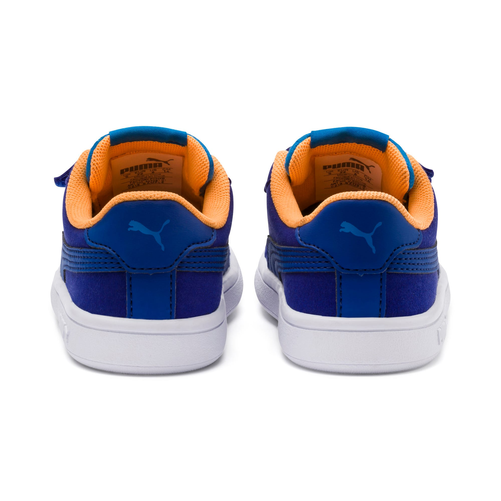 Thumbnail 3 of PUMA Smash v2 Monster Babies' Trainers, Sf Th Wb-I Bunting-Ornge-Wht, medium