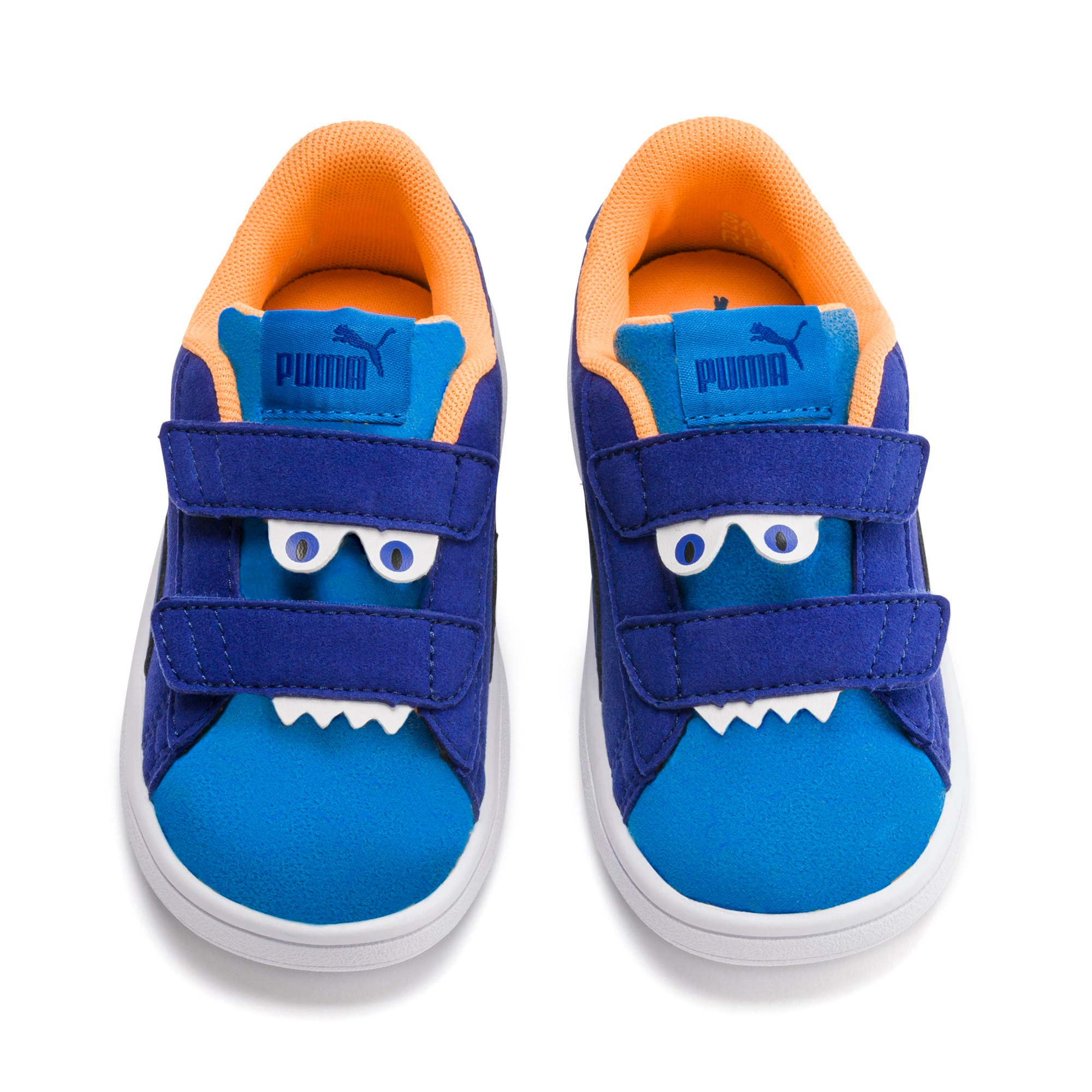 Thumbnail 7 of PUMA Smash v2 Monster Babies' Trainers, Sf Th Wb-I Bunting-Ornge-Wht, medium