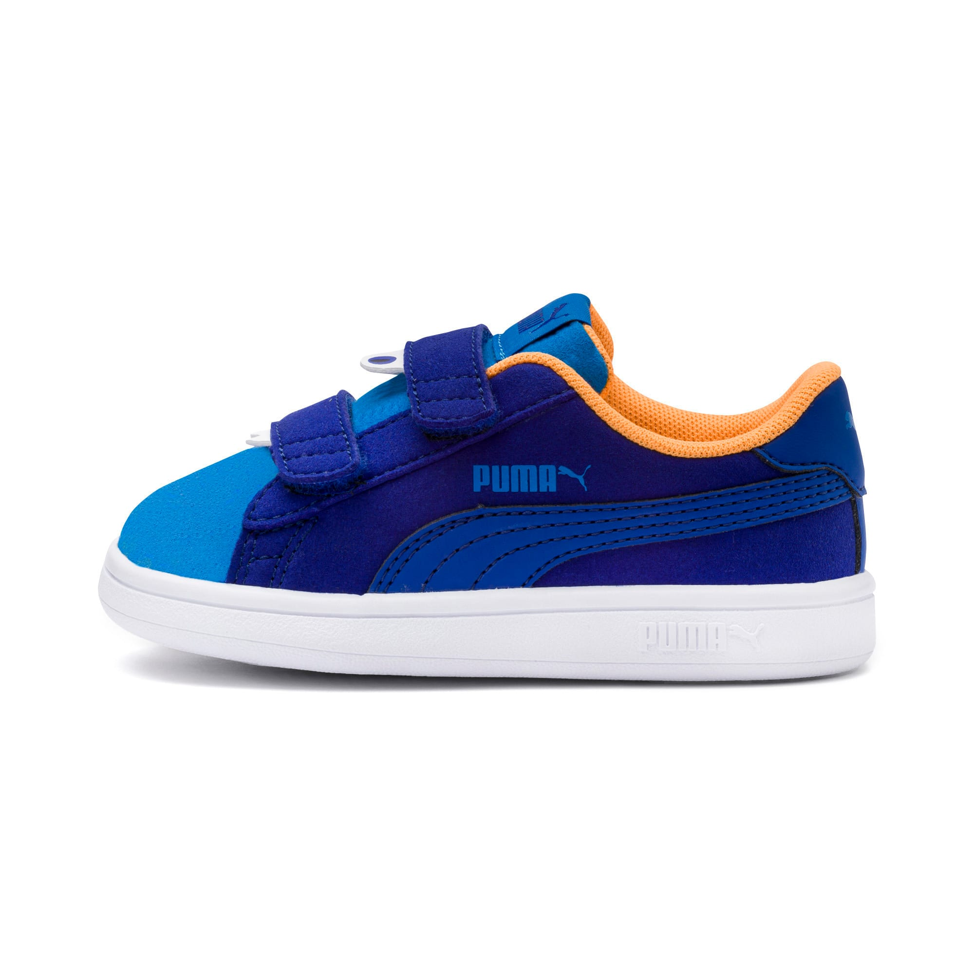 Thumbnail 1 of PUMA Smash v2 Monster Babies' Trainers, Sf Th Wb-I Bunting-Ornge-Wht, medium