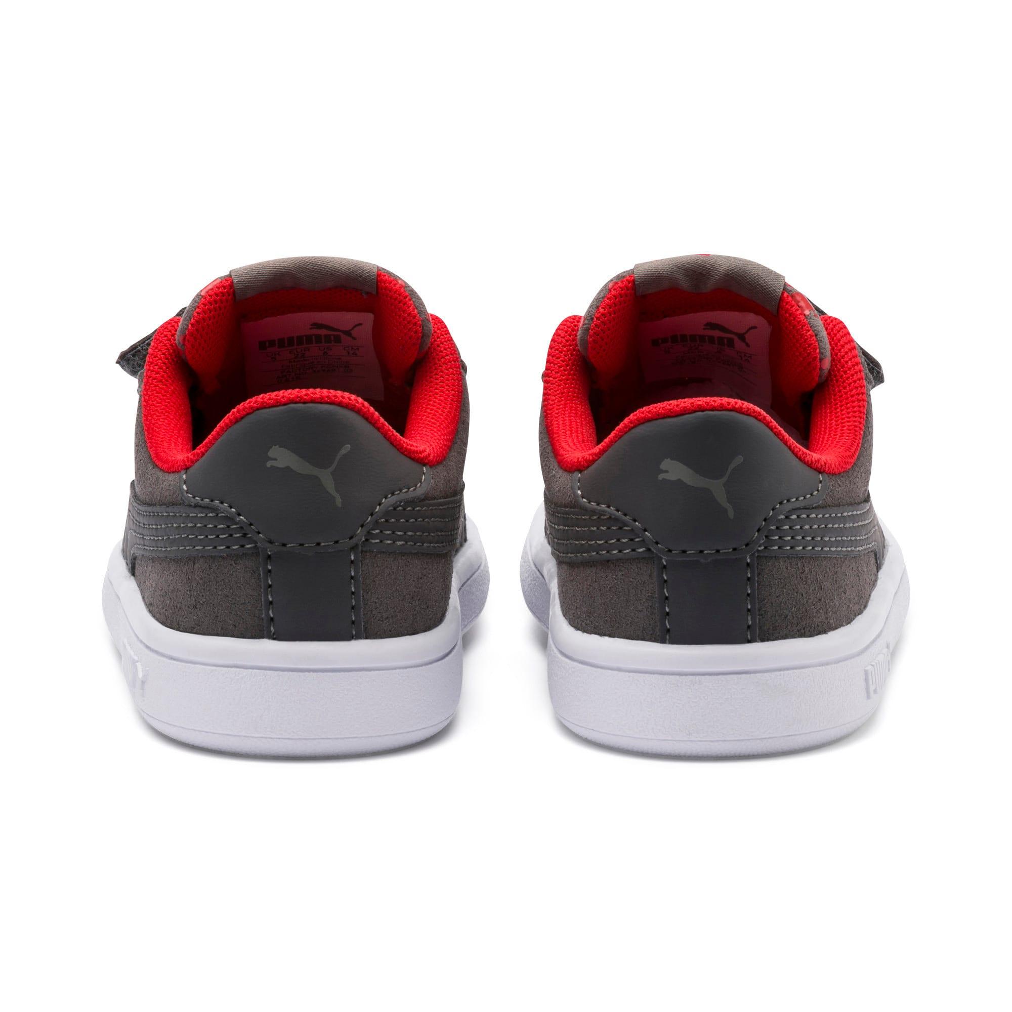 Thumbnail 3 of Smash v2 Monster Baby Sneaker, Asphalt-C. Gray-Red-White, medium