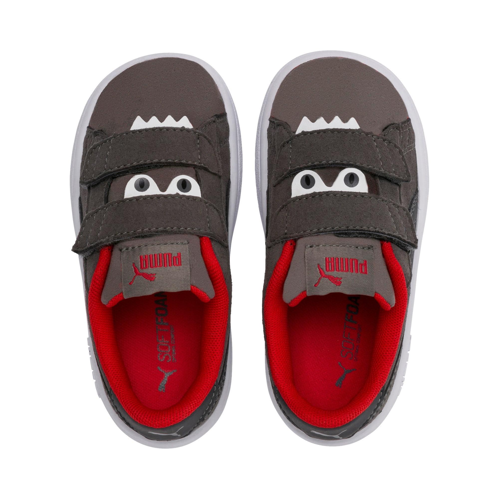 Thumbnail 6 of Smash v2 Monster Baby Sneaker, Asphalt-C. Gray-Red-White, medium