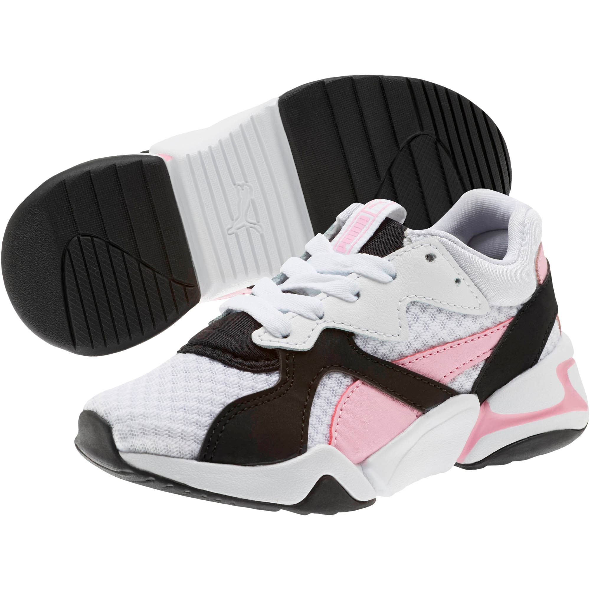 Thumbnail 2 of Nova '90s Bloc Sneakers PS, Puma Black-Puma White, medium