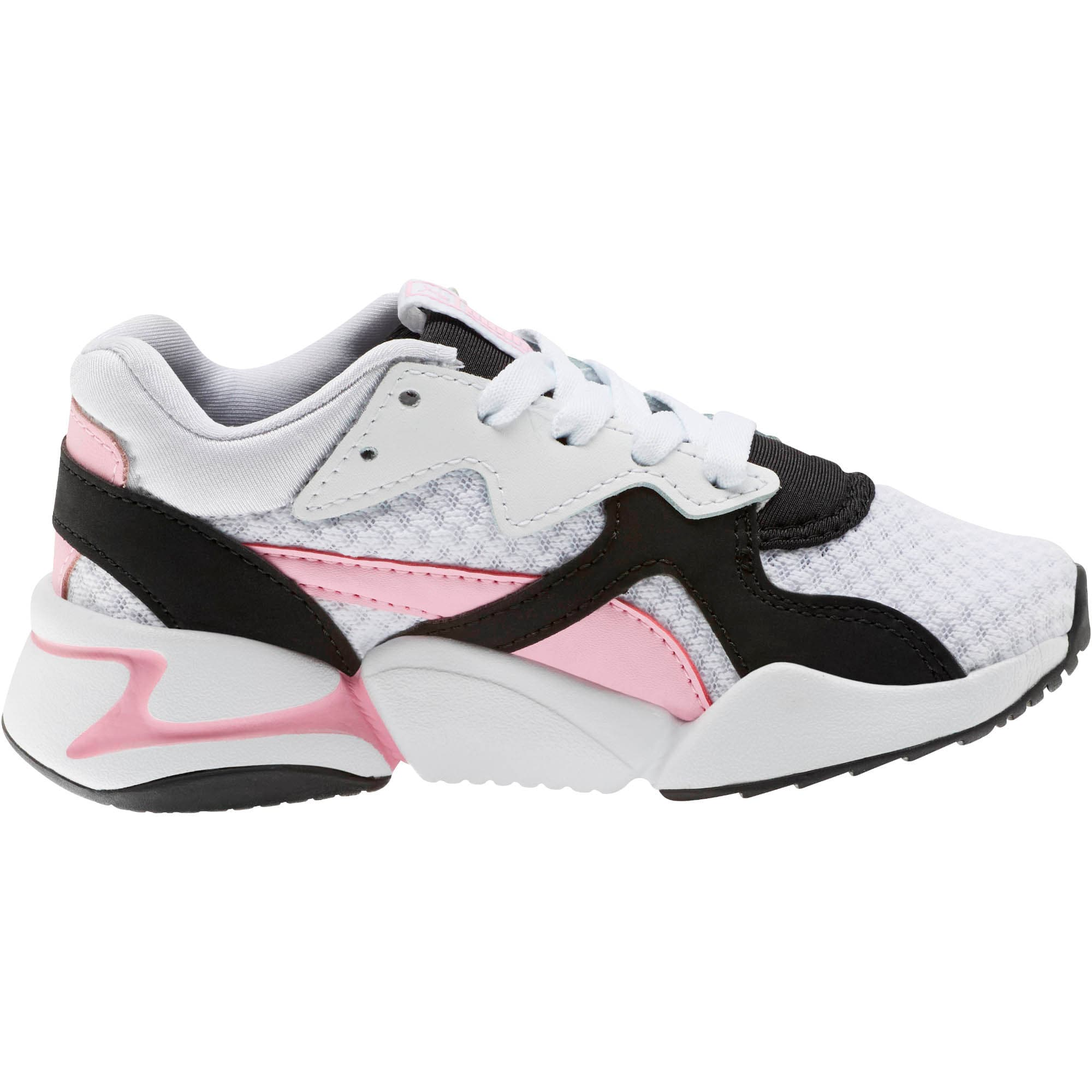 Thumbnail 4 of Nova '90s Bloc Sneakers PS, Puma Black-Puma White, medium