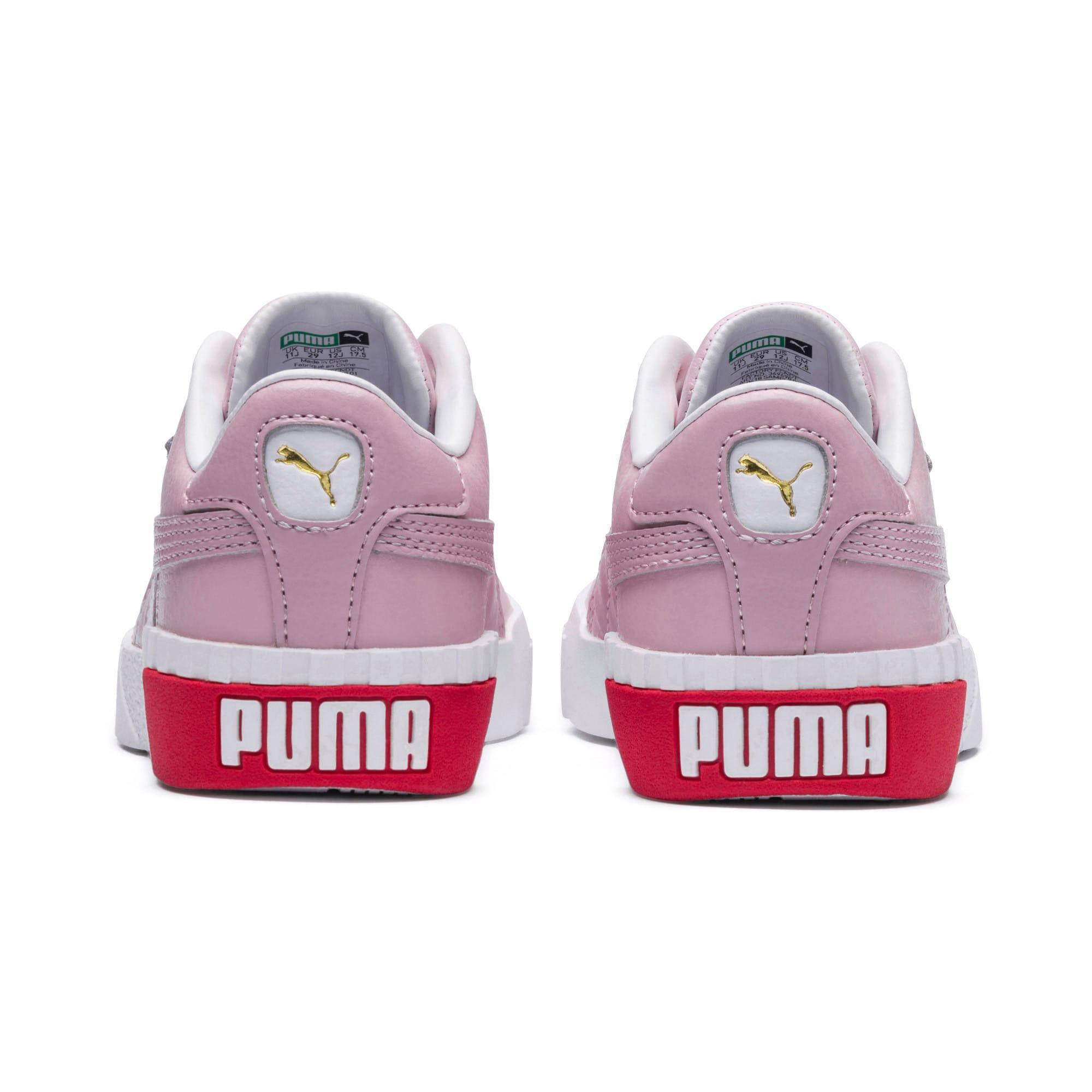 Thumbnail 3 of Cali sneakers voor meisjes, Puma White-Hibiscus, medium