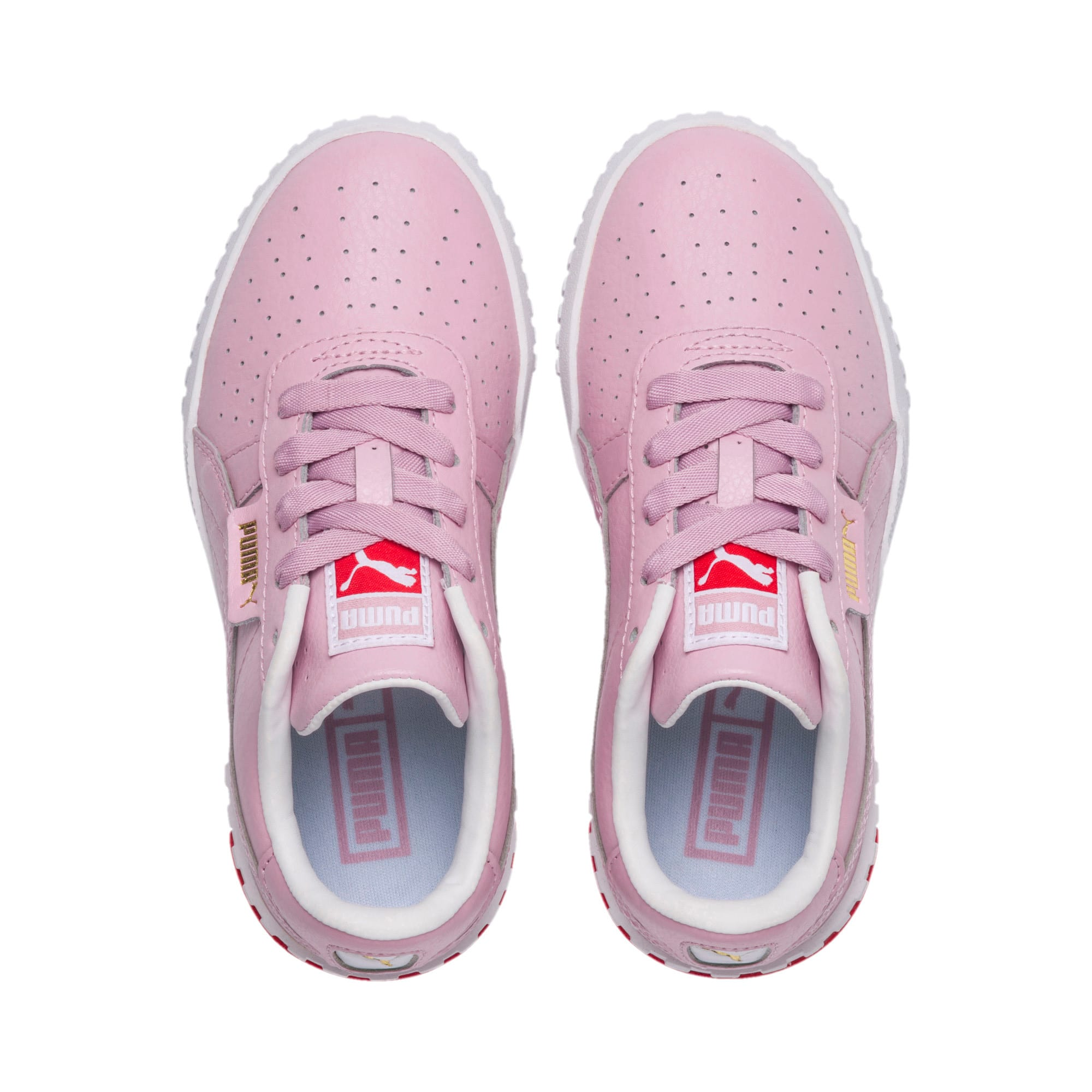 Thumbnail 6 of Cali sneakers voor meisjes, Puma White-Hibiscus, medium