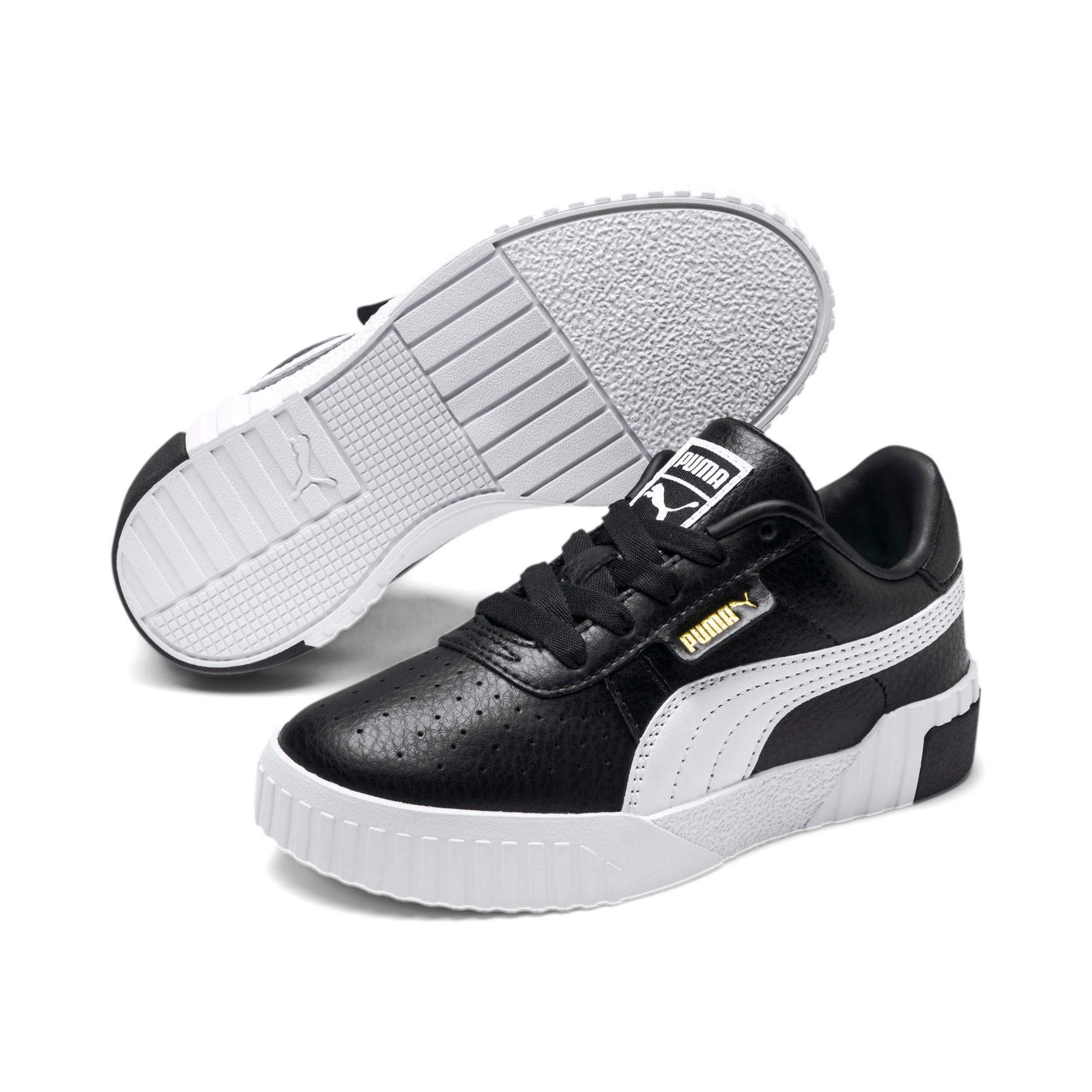 Thumbnail 2 of Cali Kids' Mädchen Sneaker, Puma Black-Puma Team Gold, medium