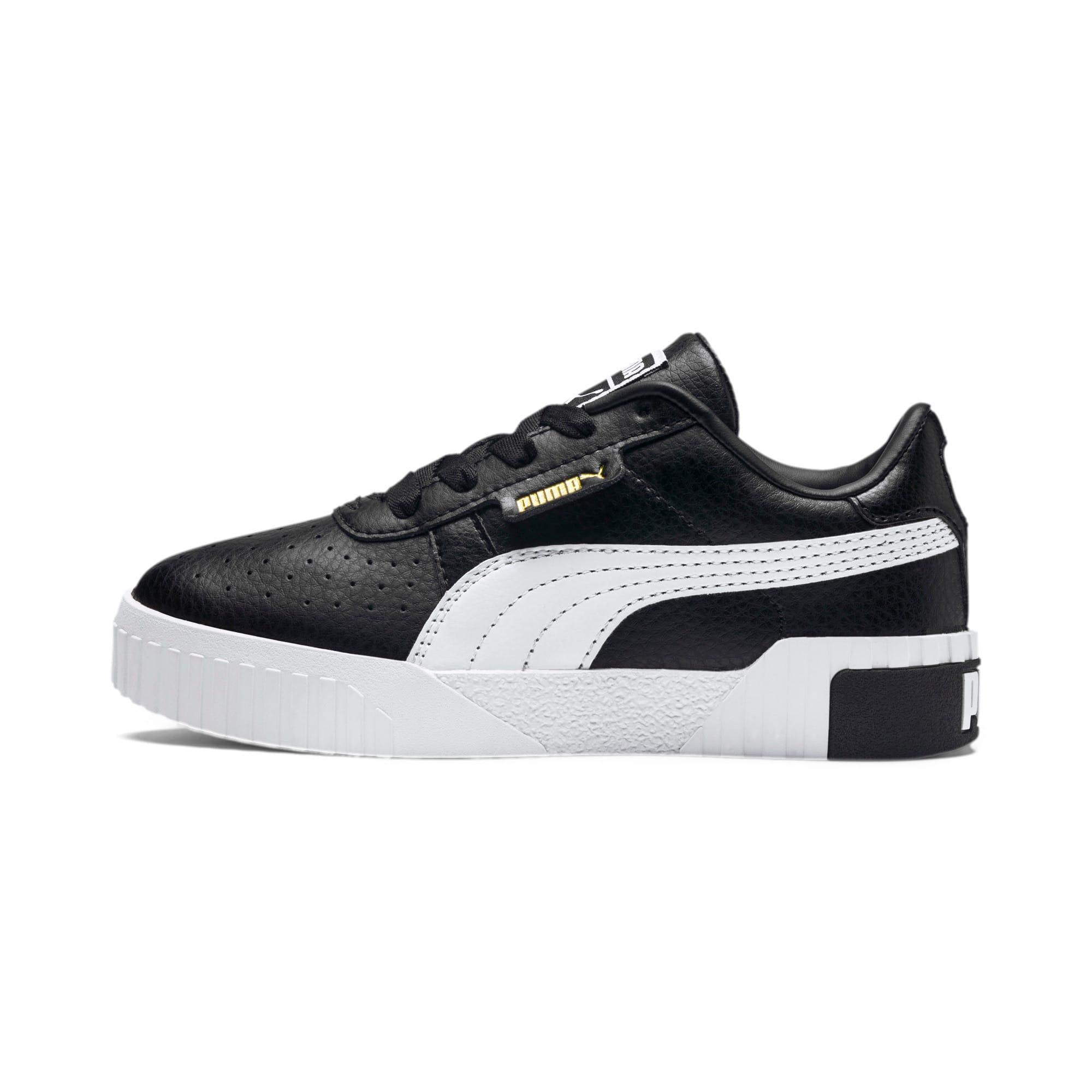 Thumbnail 1 of Cali Kids' Mädchen Sneaker, Puma Black-Puma Team Gold, medium