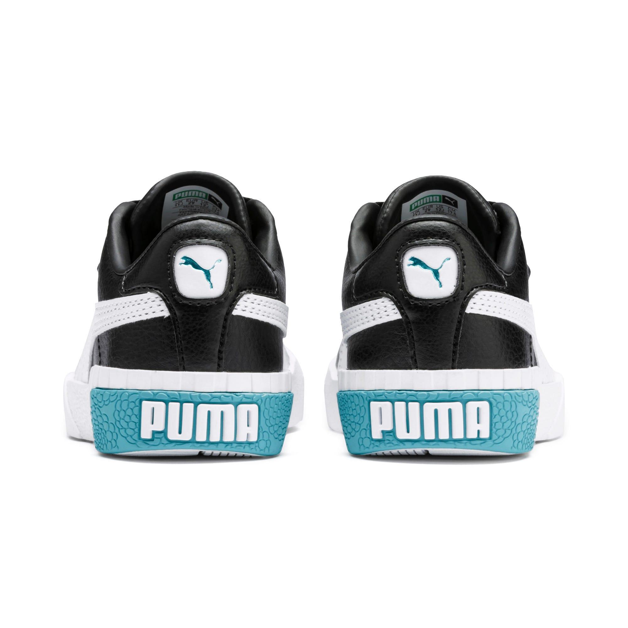 Thumbnail 3 of Cali Girls' Trainers, Puma Black-Milky Blue, medium