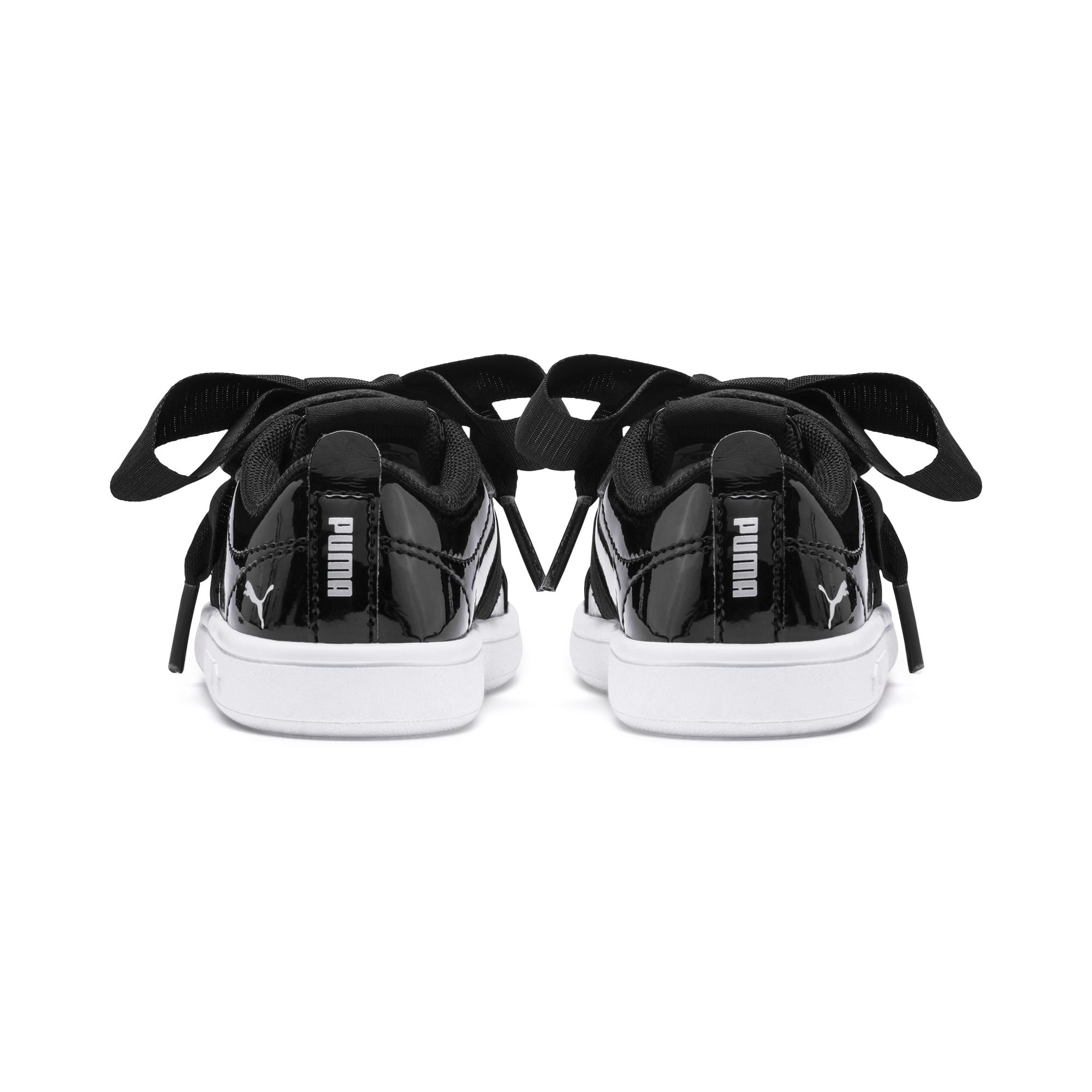 Thumbnail 3 of PUMA Smash v2 Patent Buckle AC Toddler Shoes, Puma Black-Puma Silver-White, medium