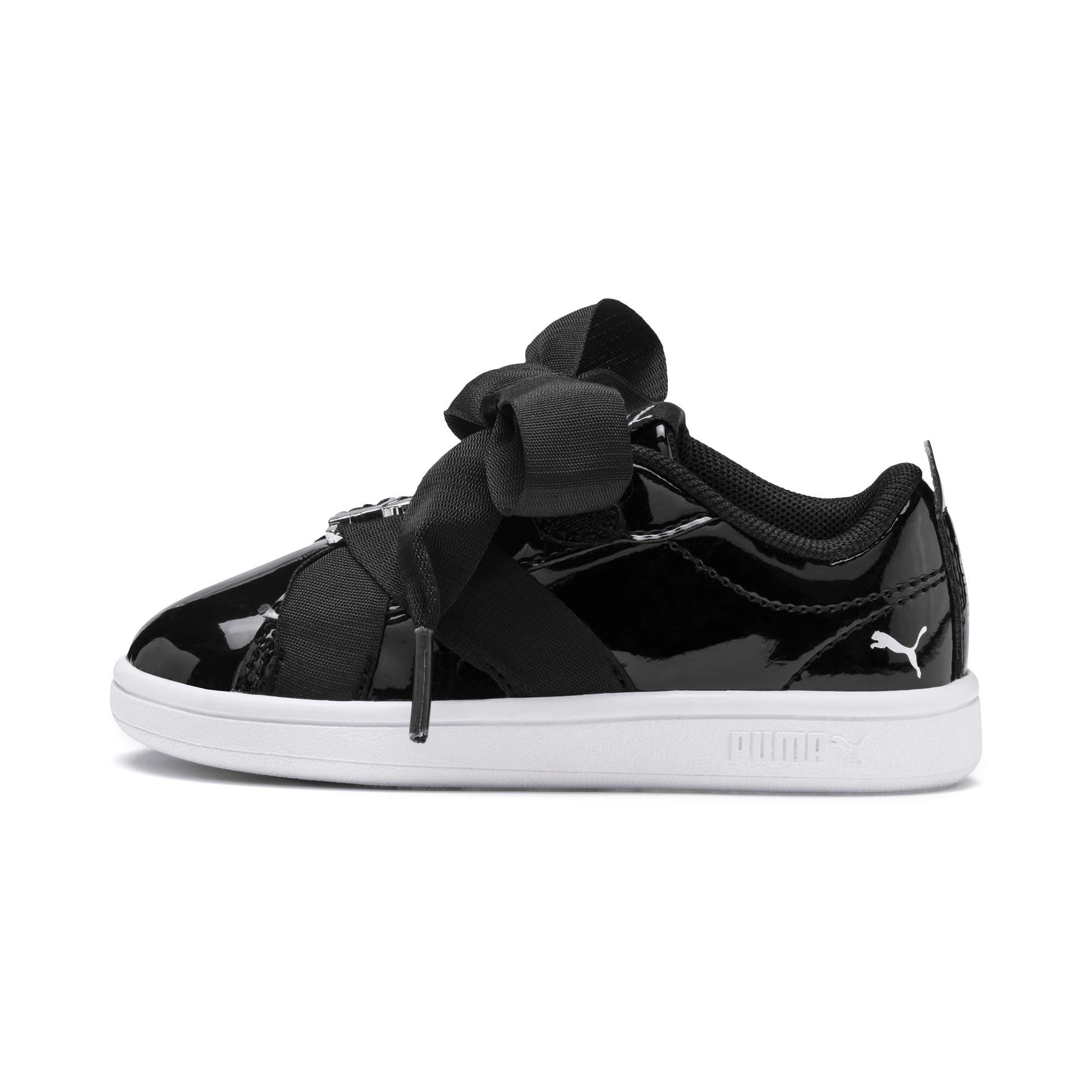 Thumbnail 1 of PUMA Smash v2 Patent Buckle AC Toddler Shoes, Puma Black-Puma Silver-White, medium