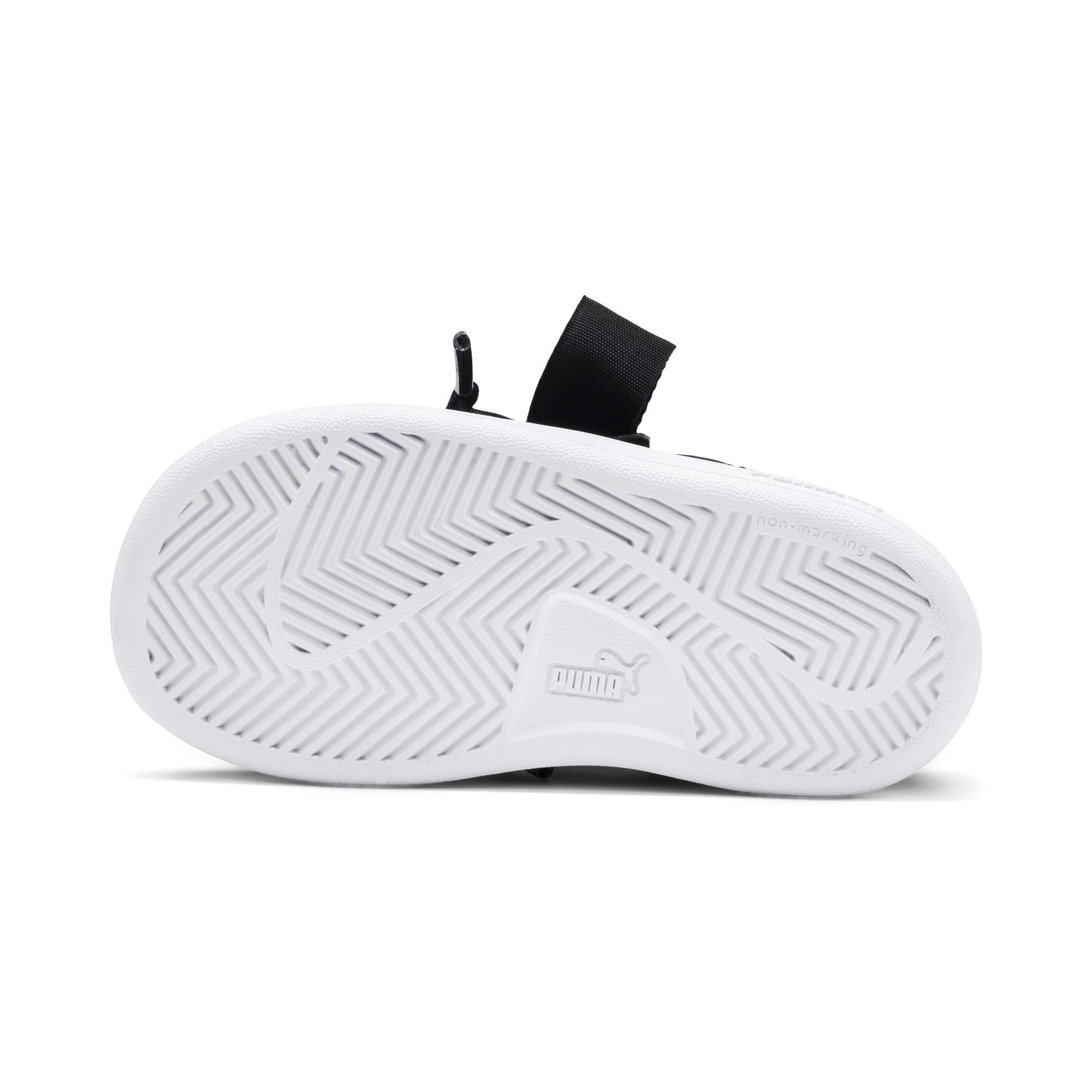 Thumbnail 4 of PUMA Smash v2 Patent Buckle AC Toddler Shoes, Puma Black-Puma Silver-White, medium
