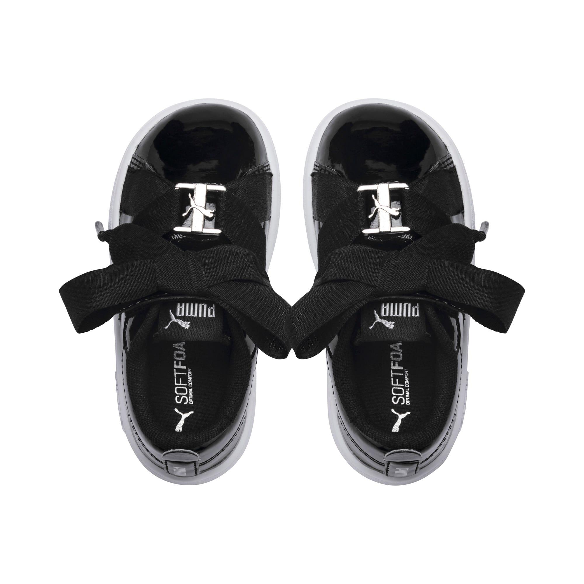 Thumbnail 6 of PUMA Smash v2 Patent Buckle AC Toddler Shoes, Puma Black-Puma Silver-White, medium