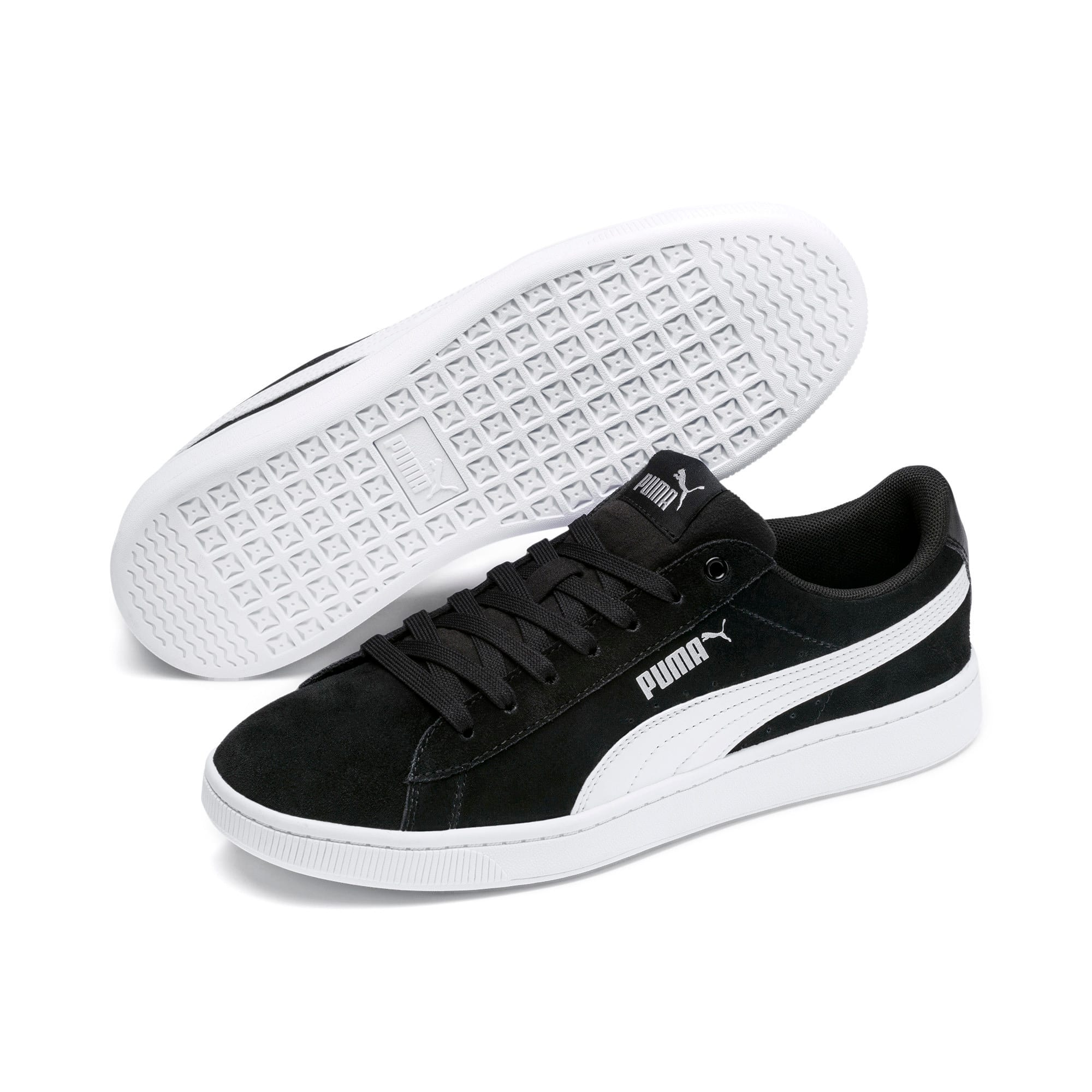 Thumbnail 2 of PUMA Vikky v2 Women's Sneakers, Puma Black-Puma White-Silver, medium