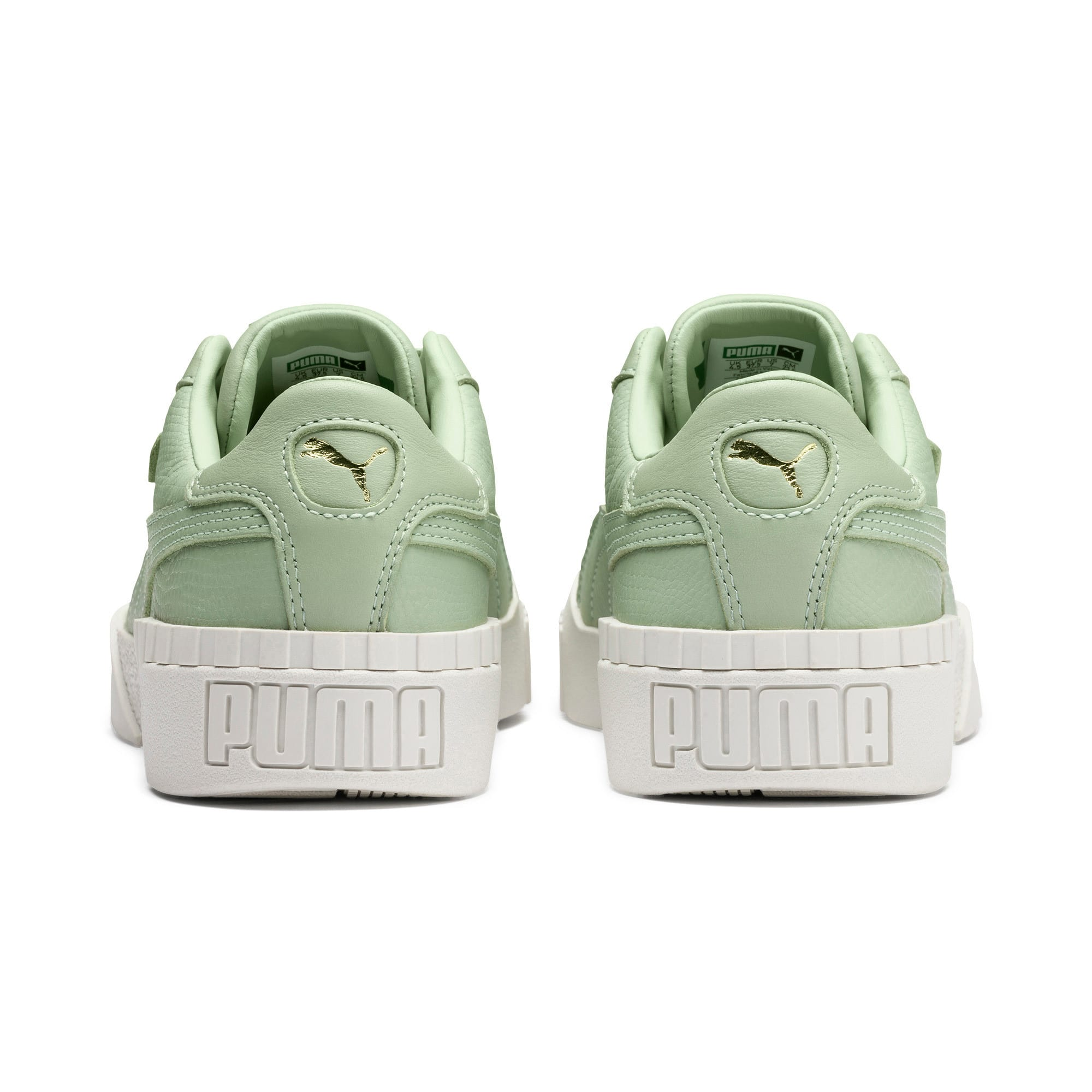 Thumbnail 4 of Cali Emboss Women's Trainers, Smoke Green-Smoke Green, medium