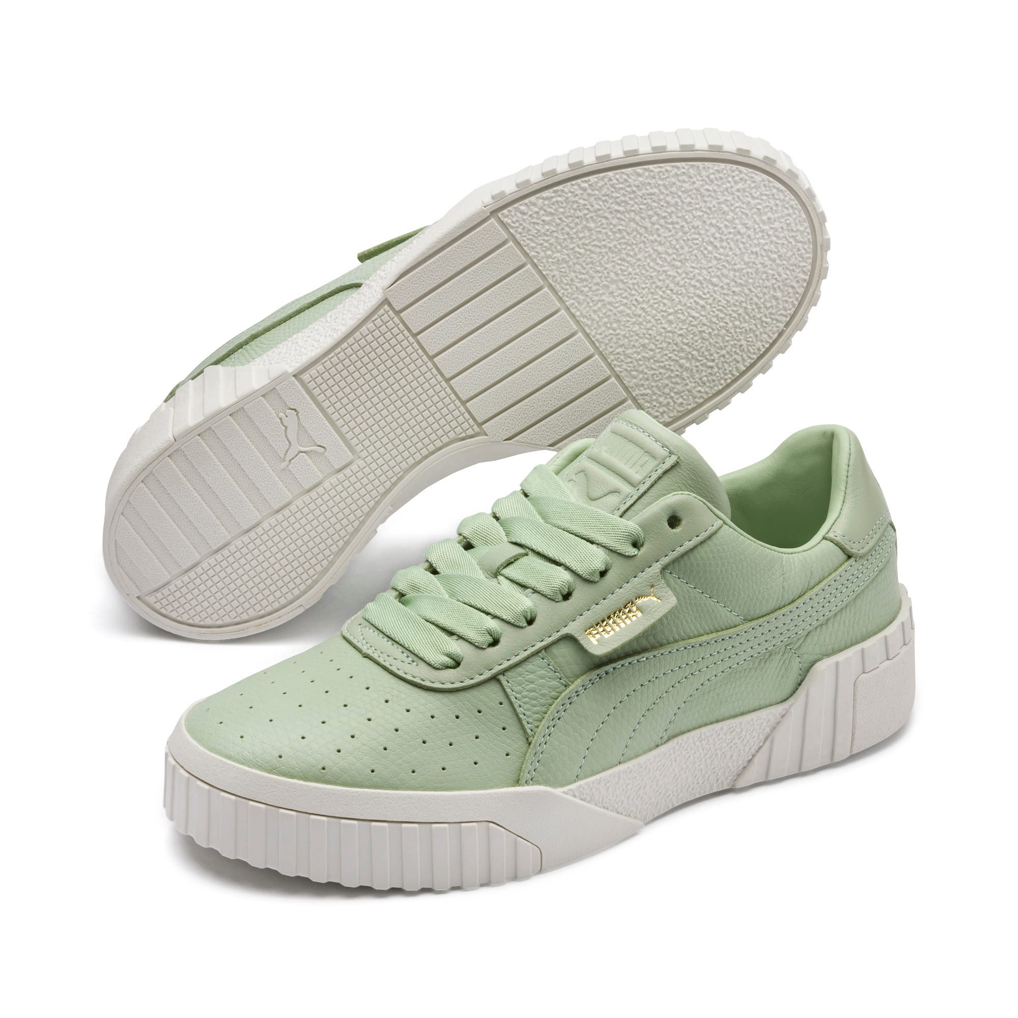 Thumbnail 3 of Cali Emboss Women's Trainers, Smoke Green-Smoke Green, medium