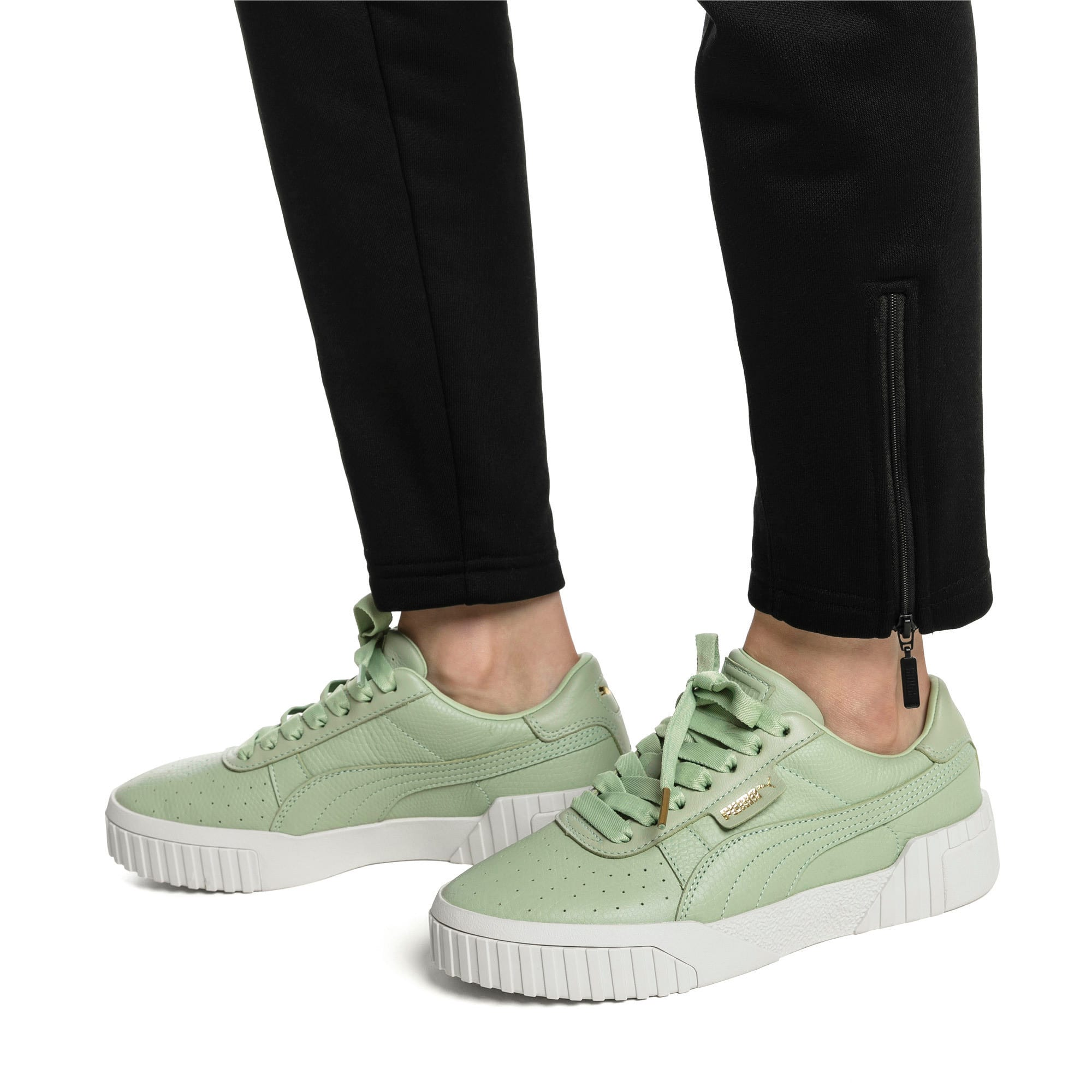 Thumbnail 2 of Cali Emboss Women's Trainers, Smoke Green-Smoke Green, medium