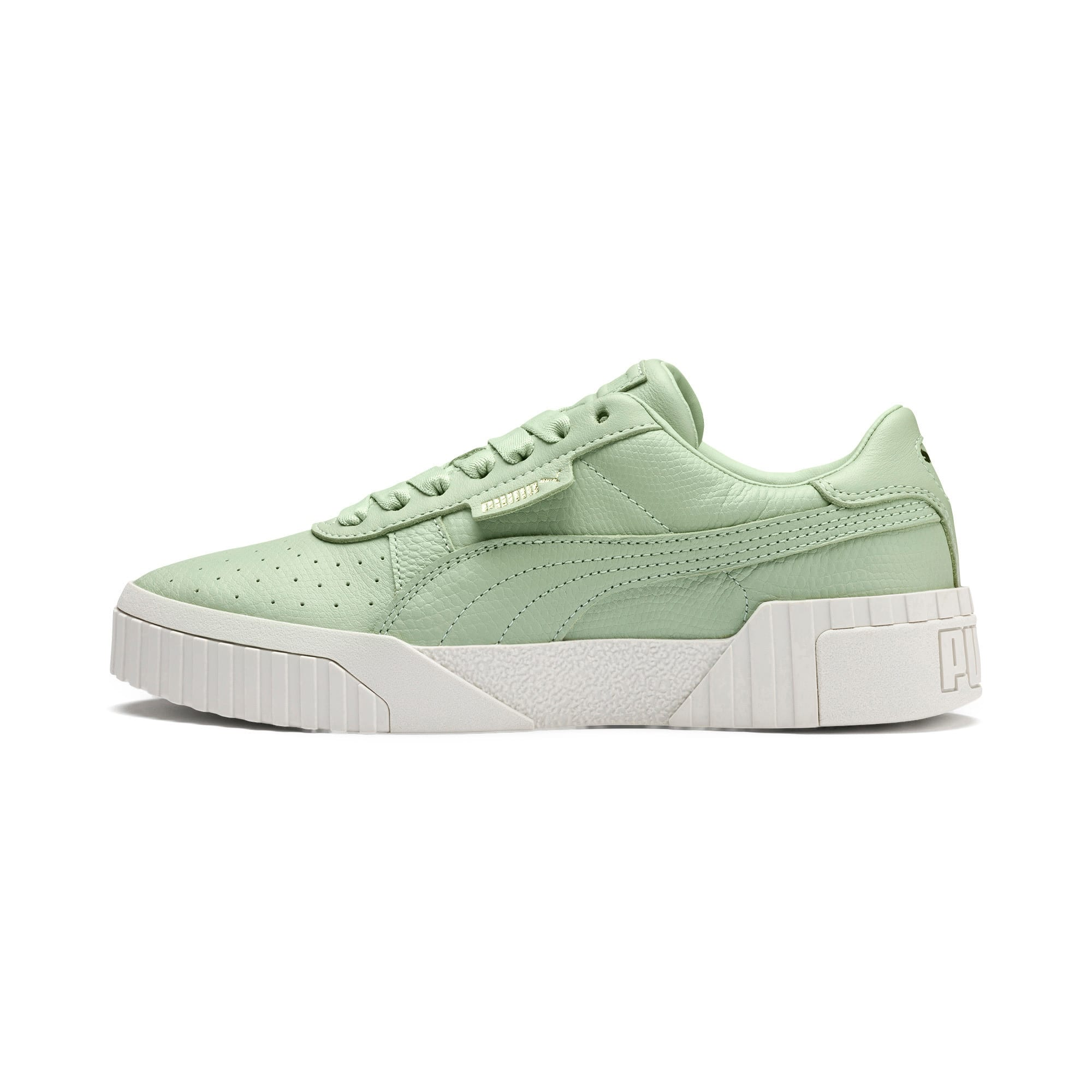 Thumbnail 1 of Cali Emboss Women's Trainers, Smoke Green-Smoke Green, medium
