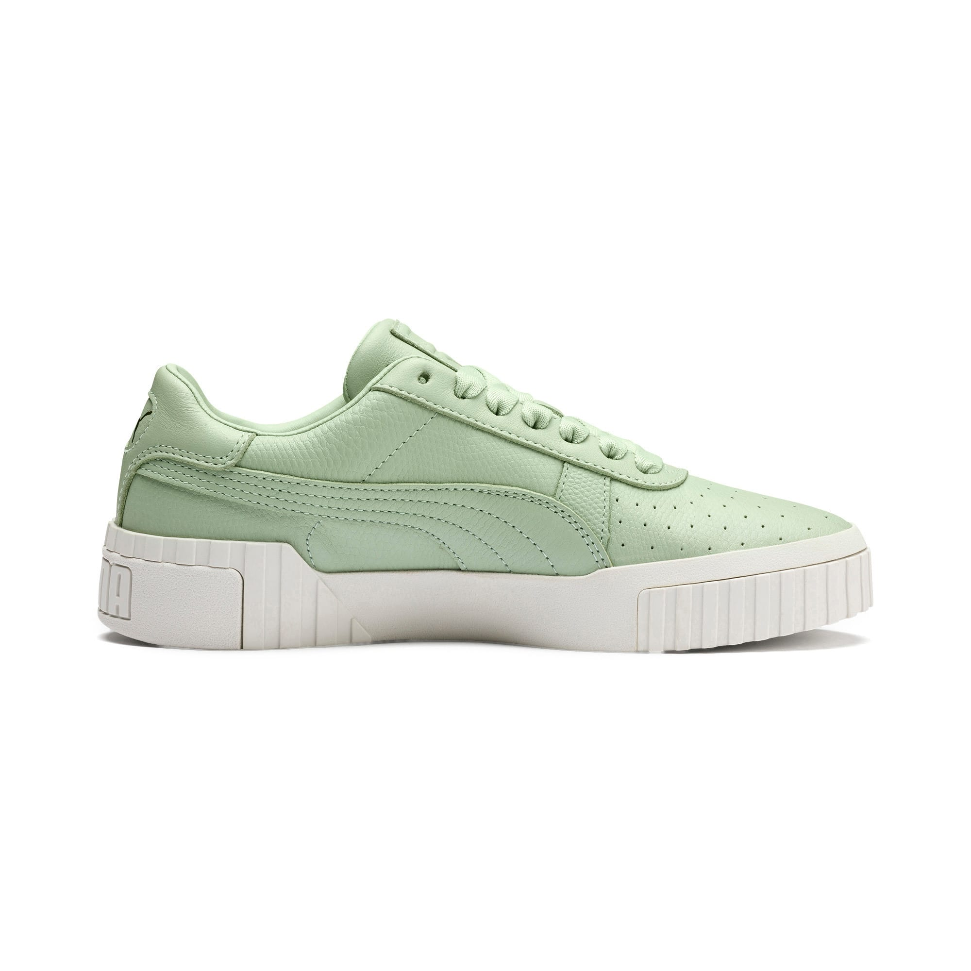 Thumbnail 6 of Cali Emboss Women's Trainers, Smoke Green-Smoke Green, medium