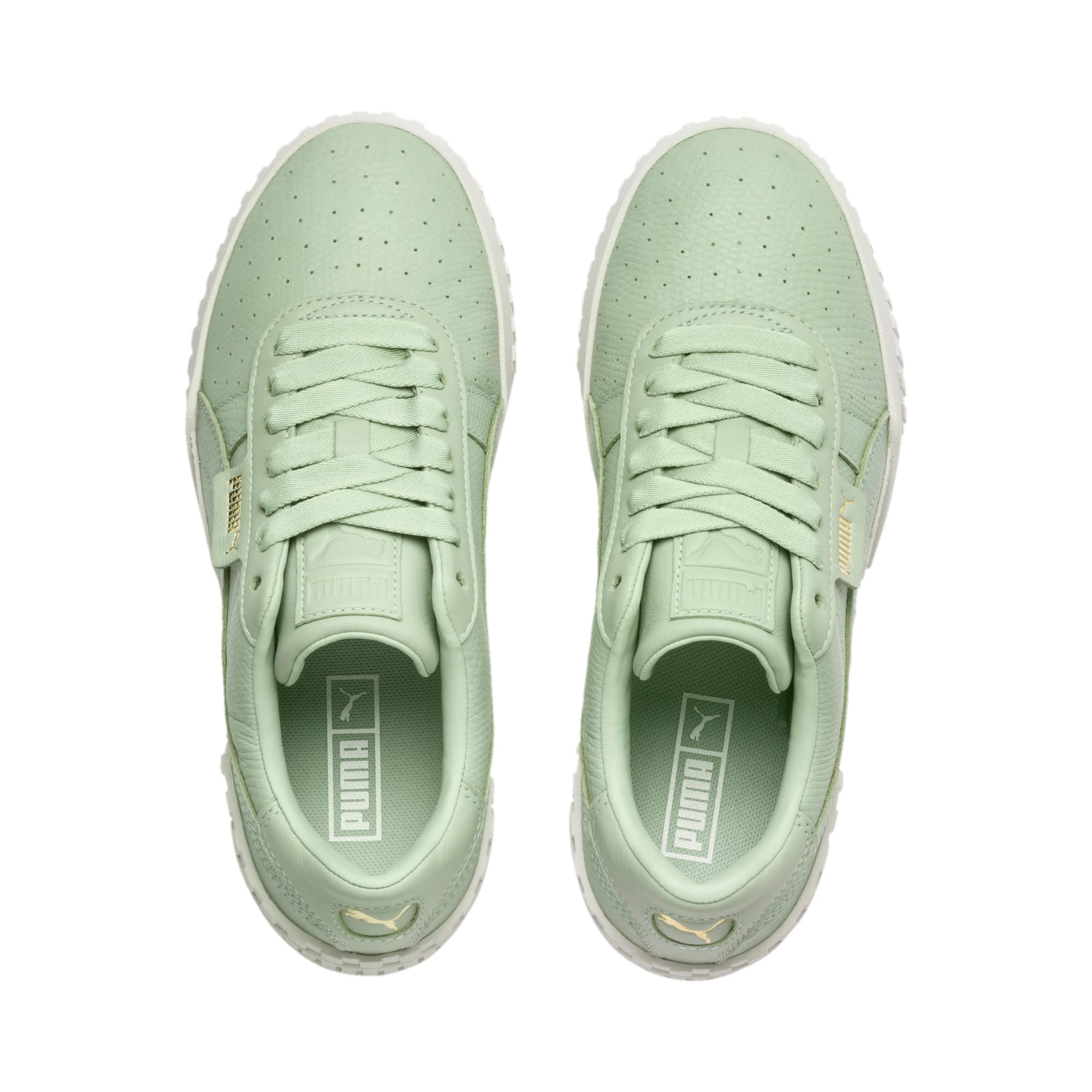 Thumbnail 7 of Cali Emboss Women's Trainers, Smoke Green-Smoke Green, medium