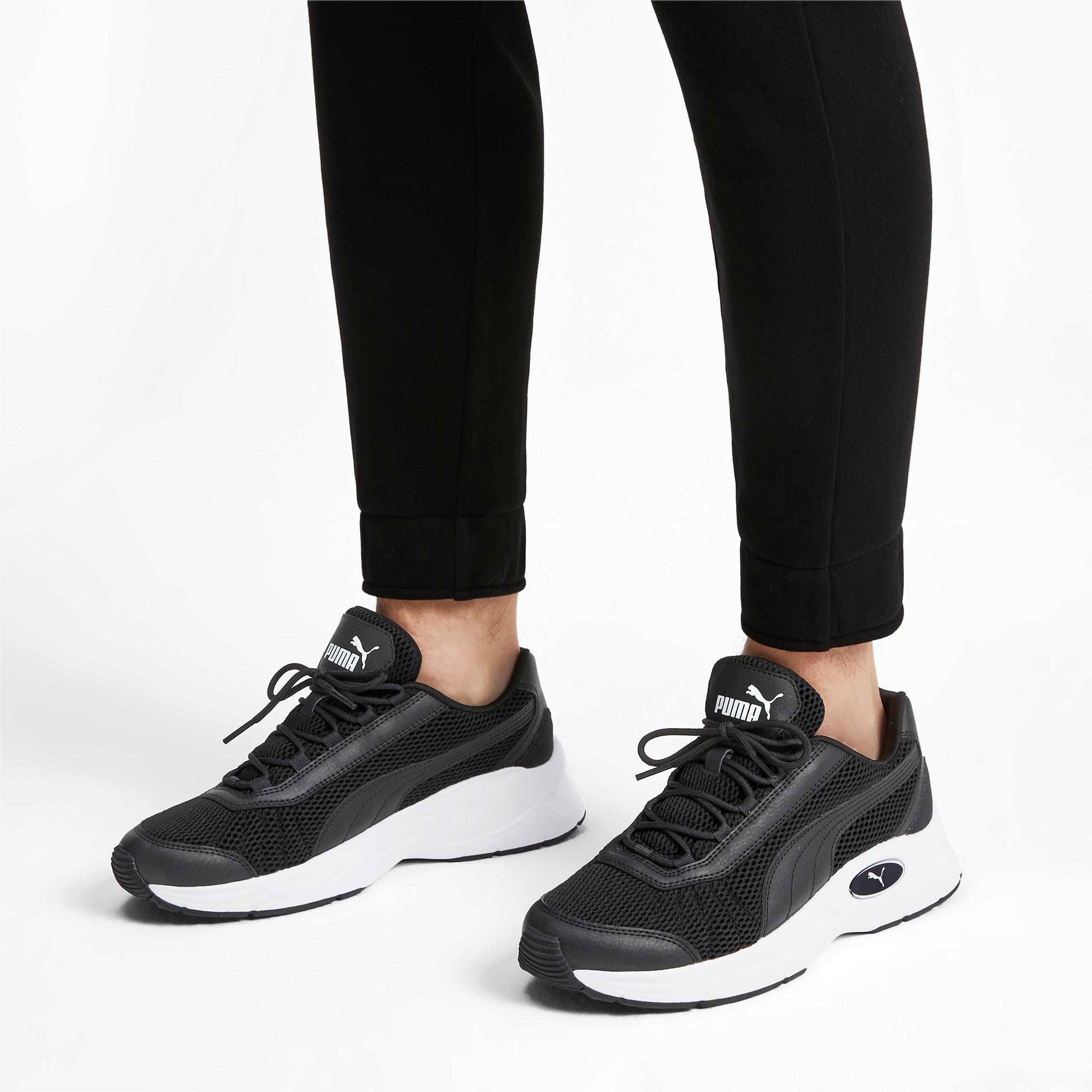 Puma Mens Nucleus Snr 02 Black White Trainers Sports Shoes