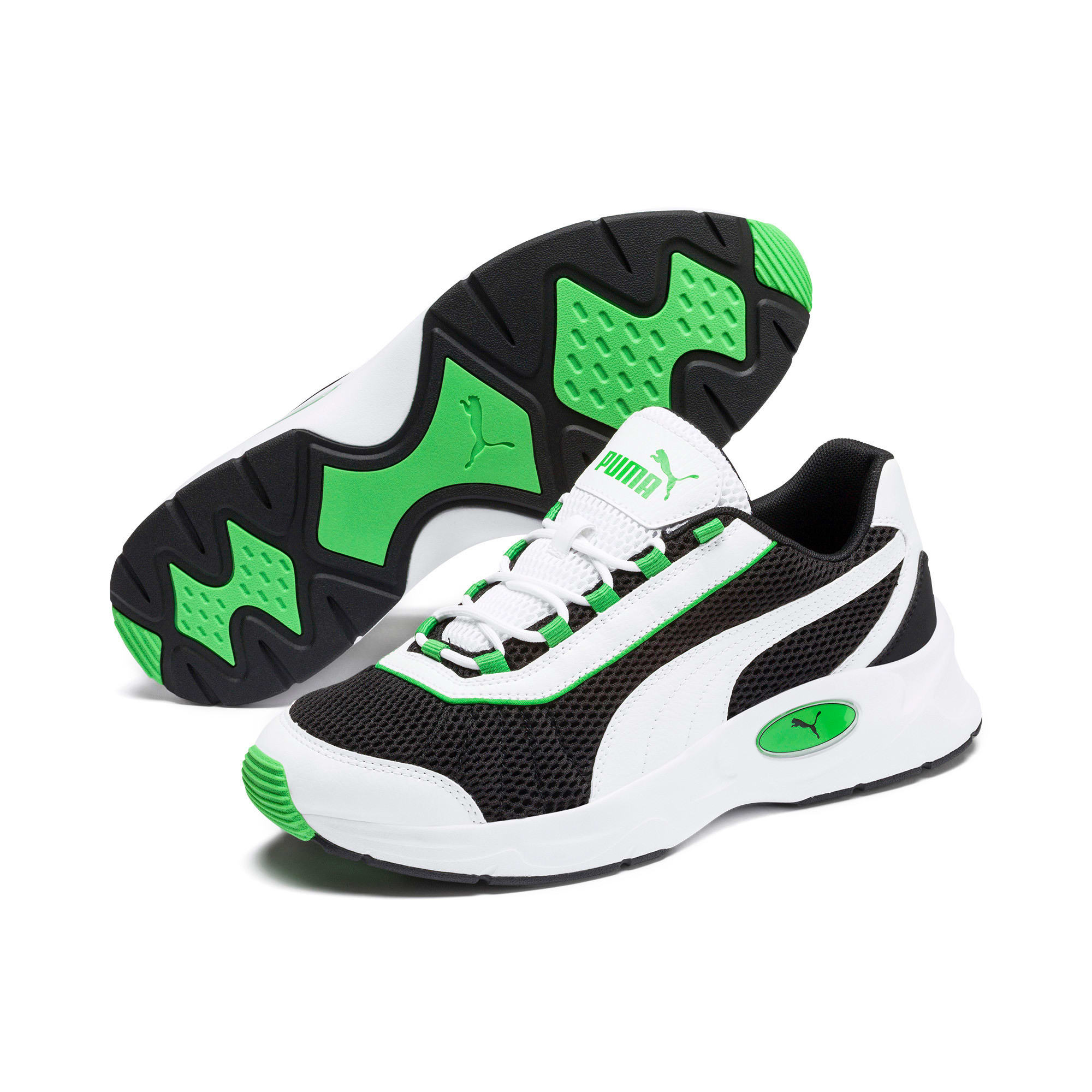 Imagen en miniatura 3 de Zapatillas de training Nucleus, Puma Black-Classic Green, mediana