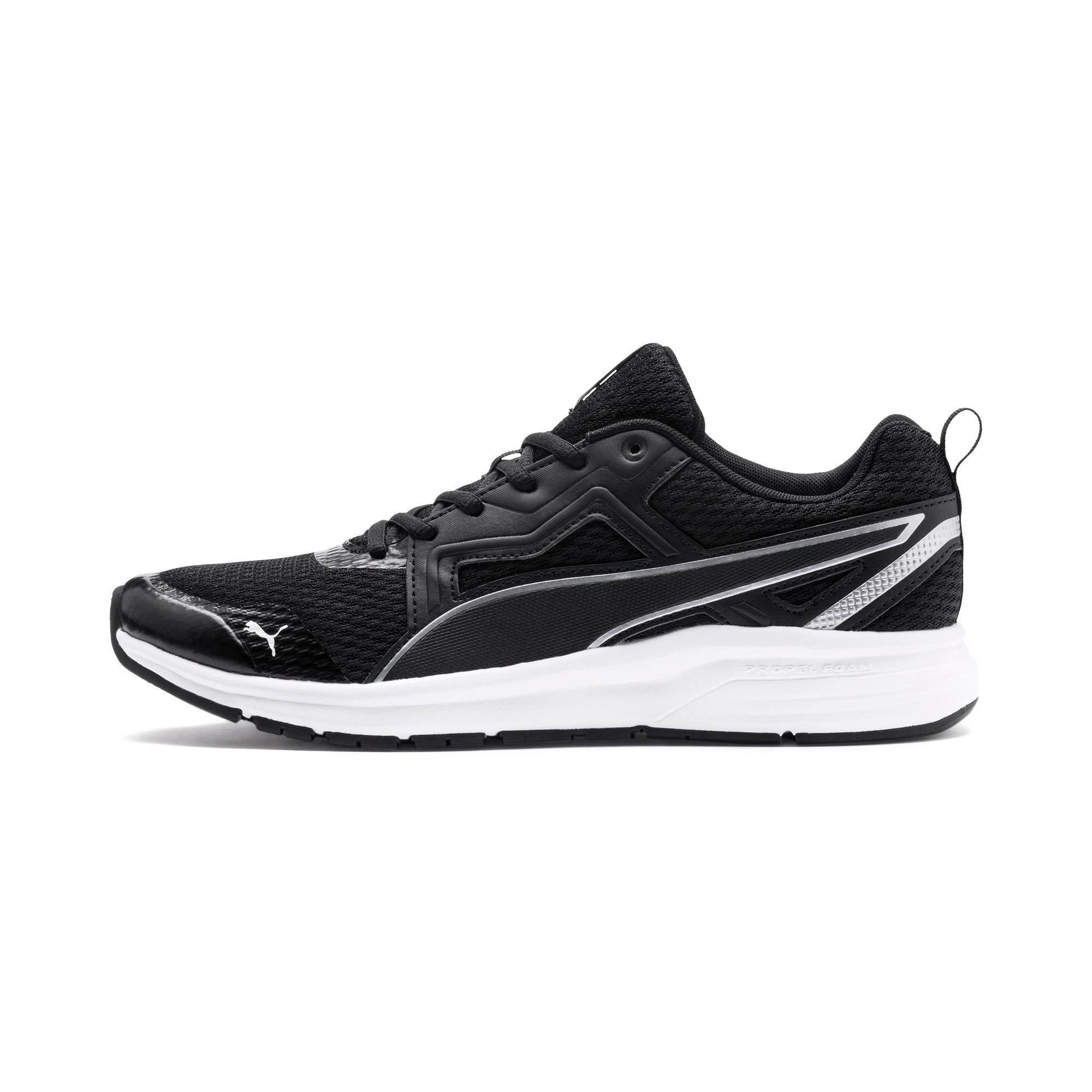 Thumbnail 1 of Pure Jogger Running Shoes, Black-Silver-White-Yellow, medium-IND