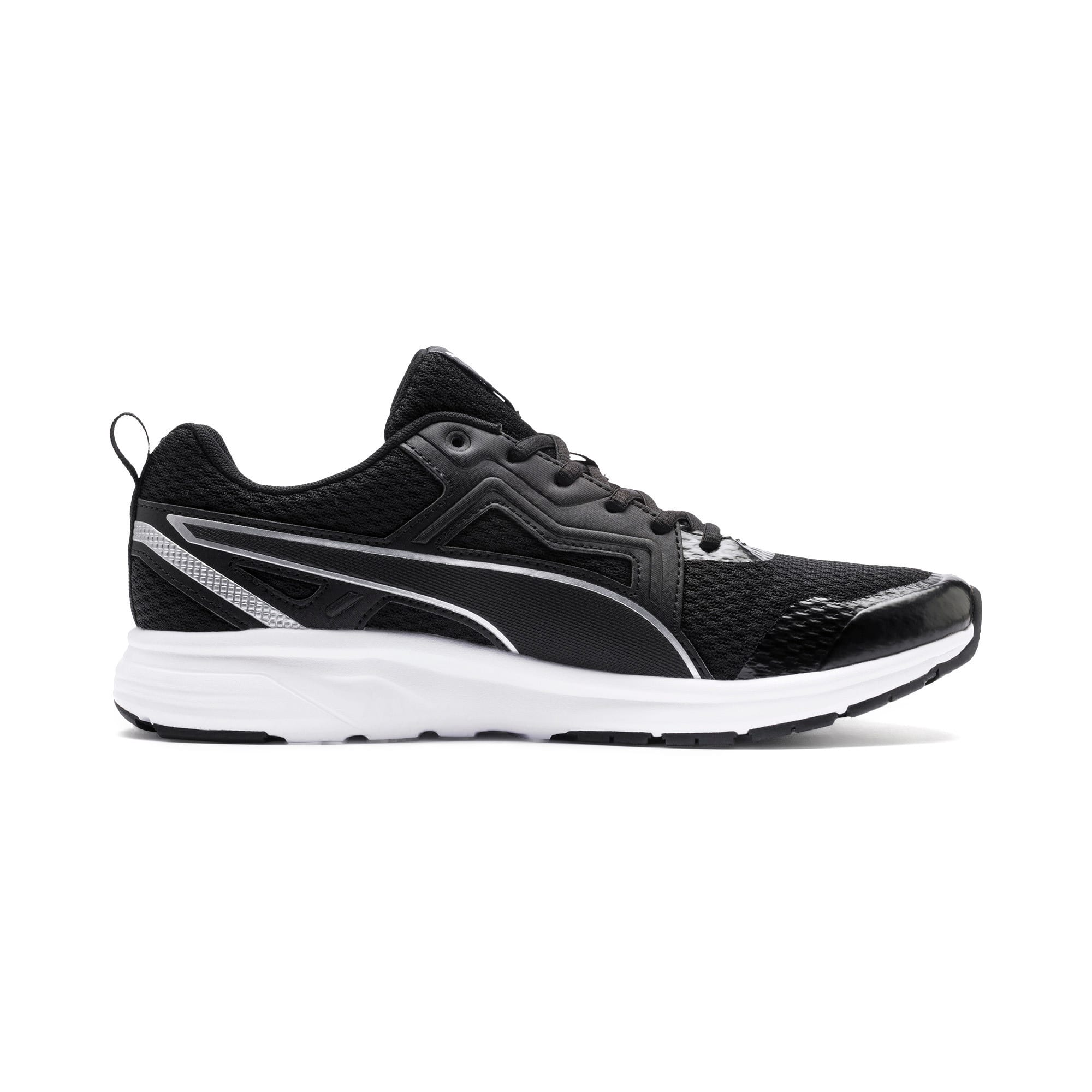 Thumbnail 7 of Pure Jogger Running Shoes, Black-Silver-White-Yellow, medium-IND