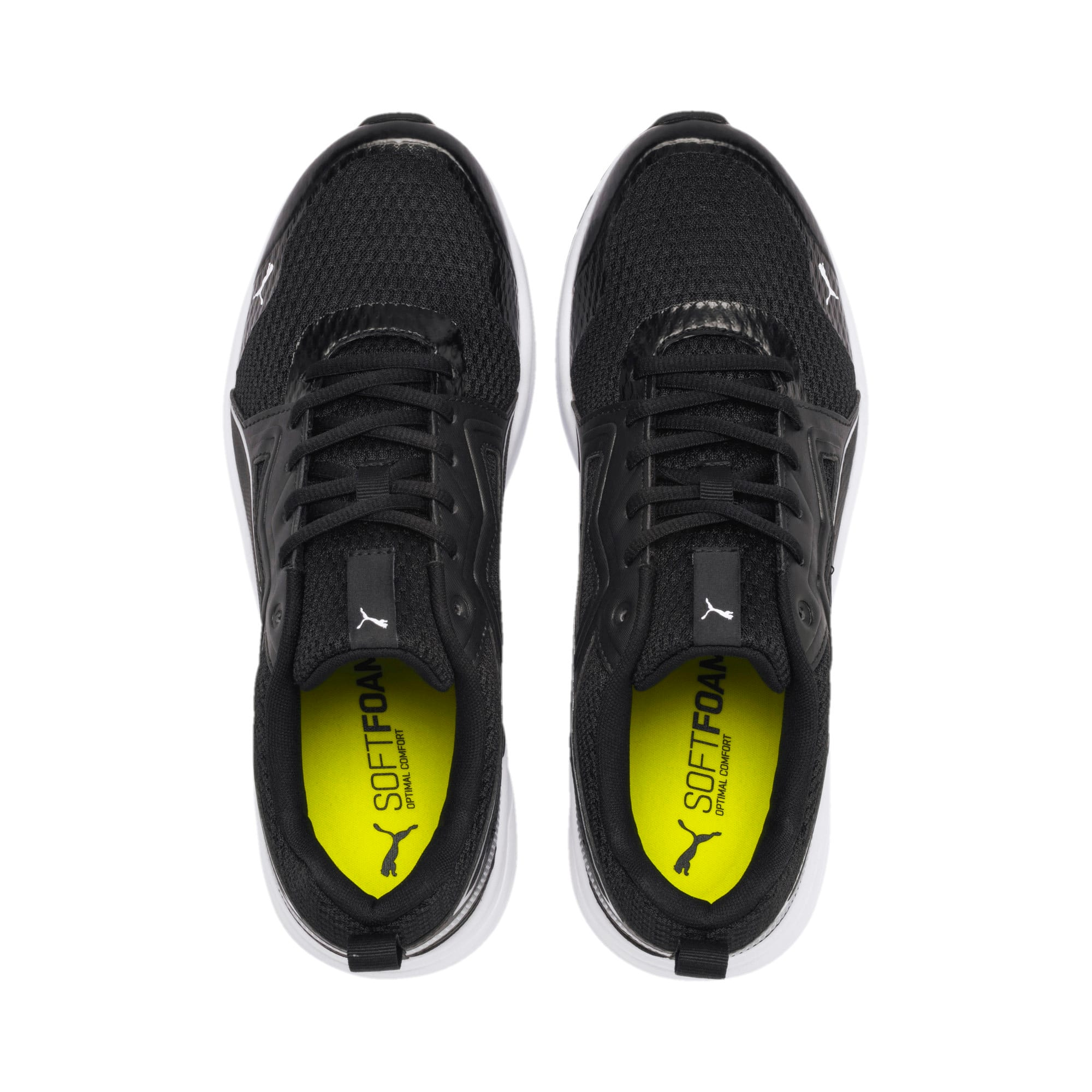 Thumbnail 8 of Pure Jogger Running Shoes, Black-Silver-White-Yellow, medium-IND