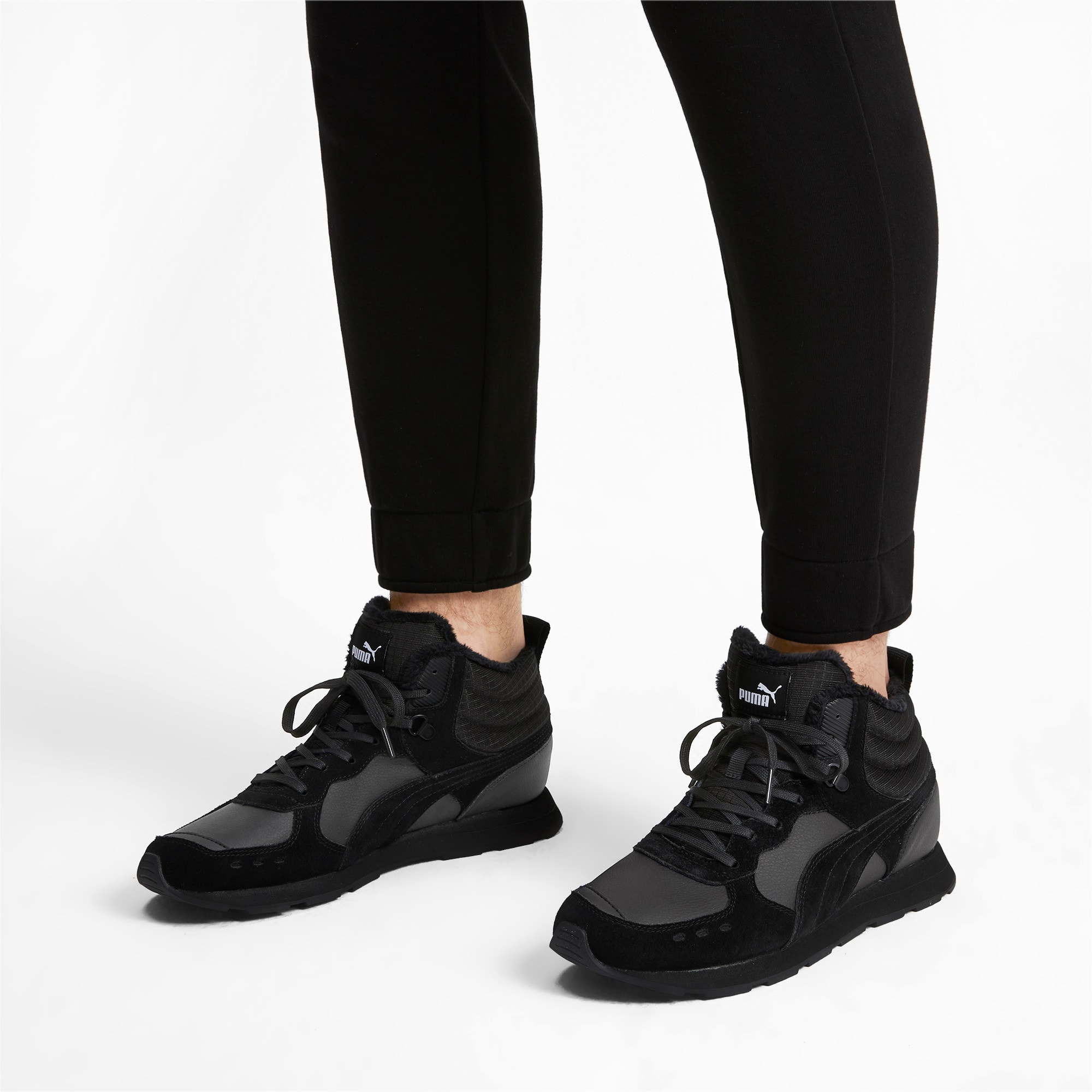 Anteprima 2 di Vista Mid-Cut Winter Running Shoes, Puma Black-Puma White, medio