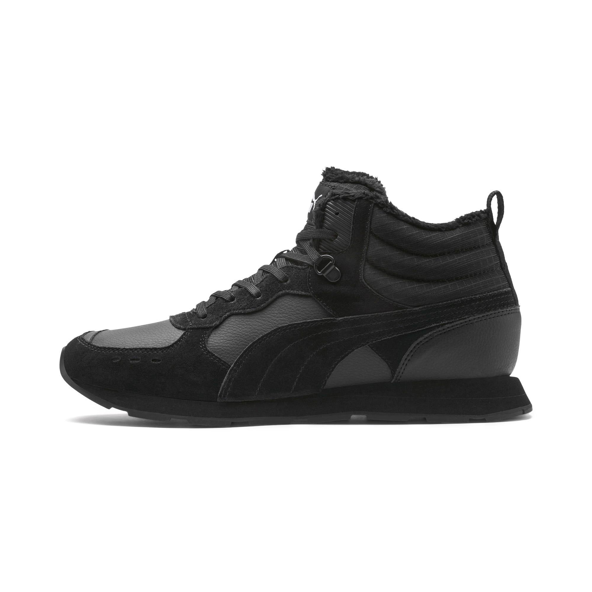 Anteprima 1 di Vista Mid-Cut Winter Running Shoes, Puma Black-Puma White, medio