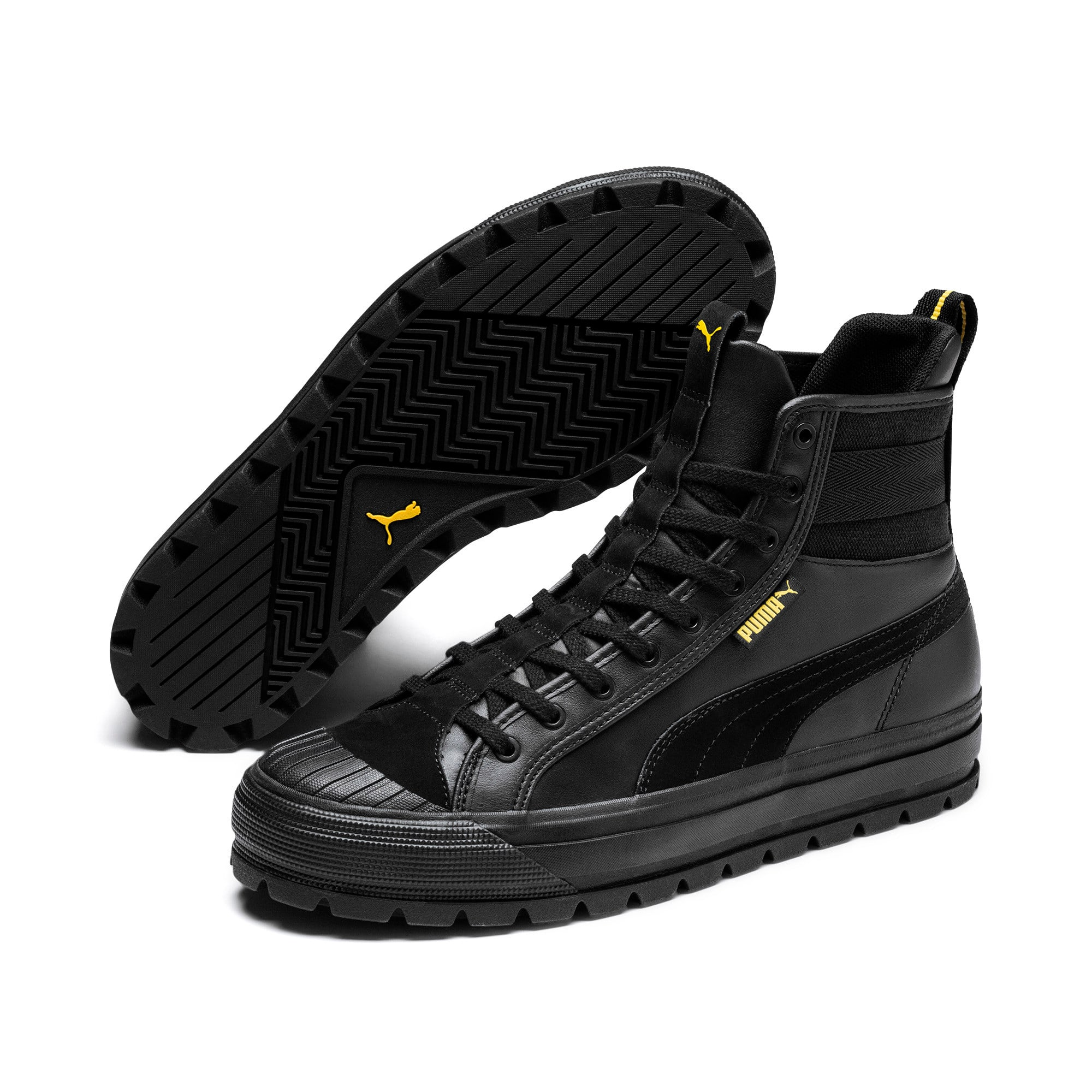 Thumbnail 3 of Capri Para Trainers, Puma Black-Puma Blk-Sulphur, medium