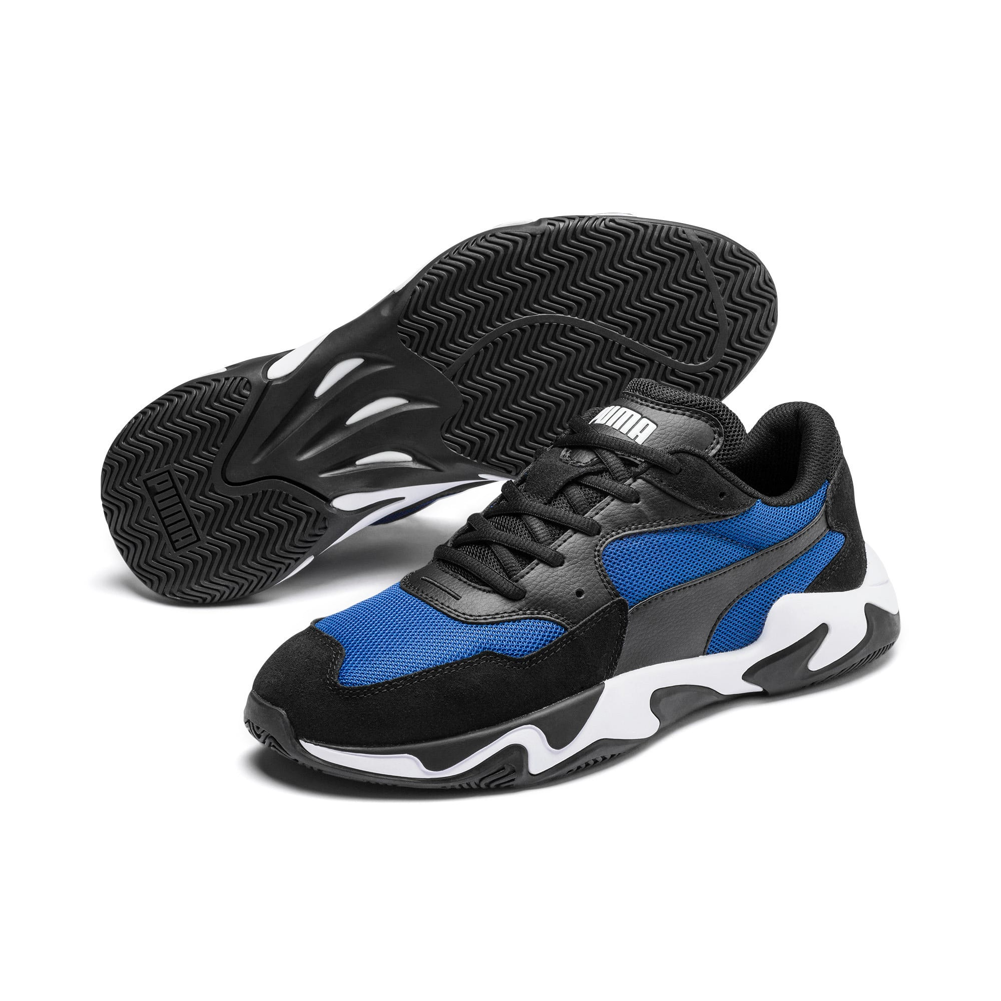 Thumbnail 3 of Storm Adrenaline Sneaker, Puma Black-Galaxy Blue, medium