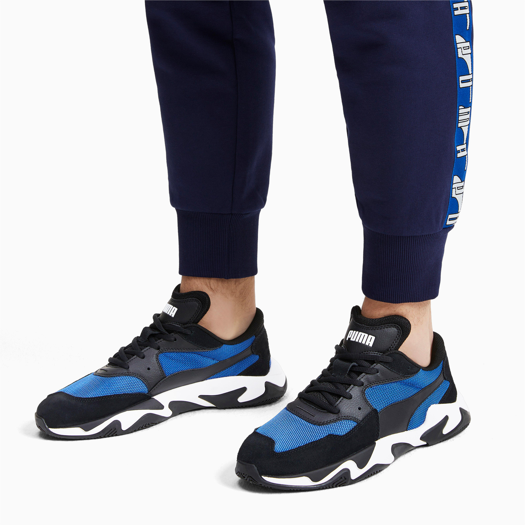 Thumbnail 2 of Storm Adrenaline Sneaker, Puma Black-Galaxy Blue, medium