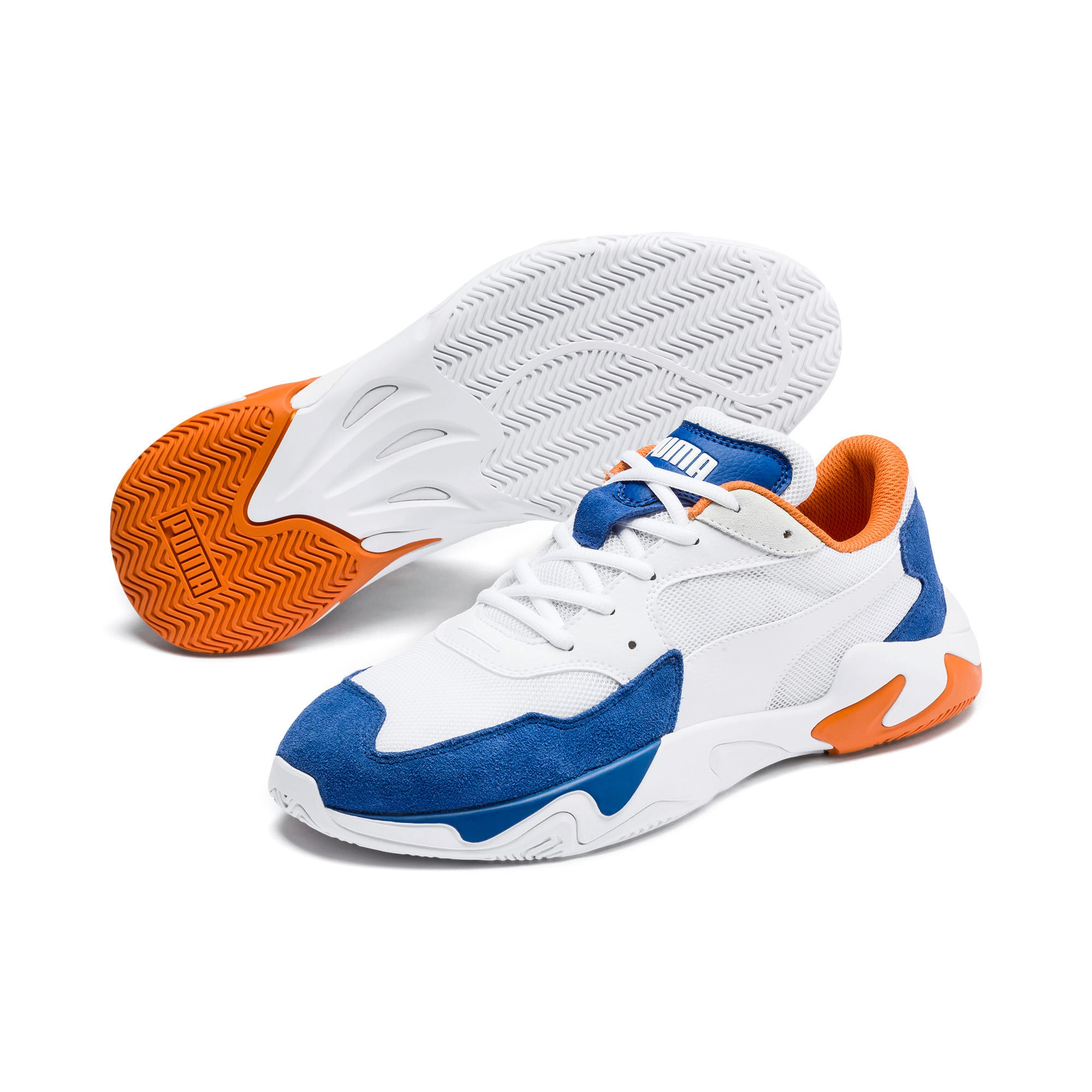 Thumbnail 3 of Storm Adrenaline Trainers, Galaxy Blue-Puma White, medium