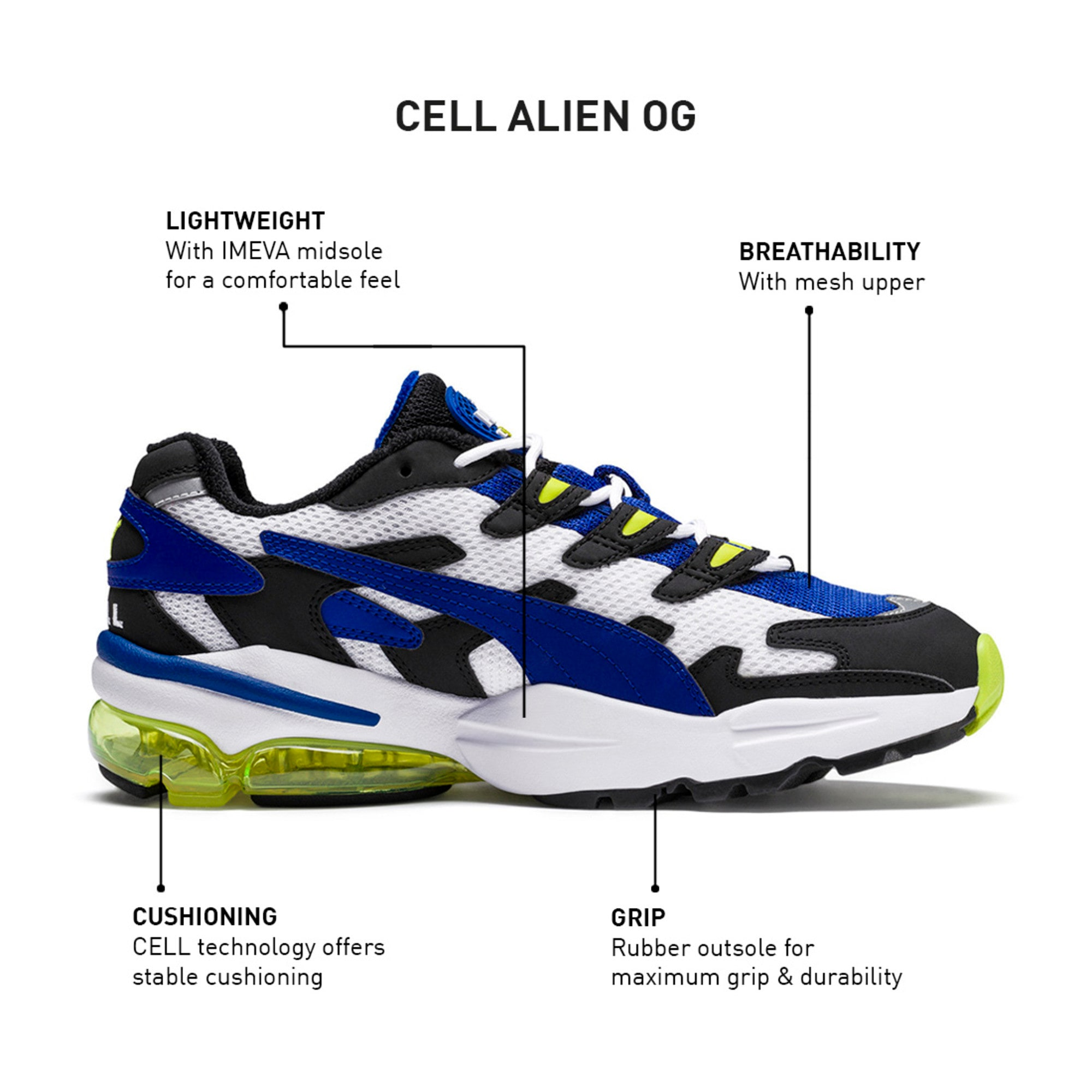 Thumbnail 10 of CELL Alien OG Trainers, Puma Black-Surf The Web, medium-IND