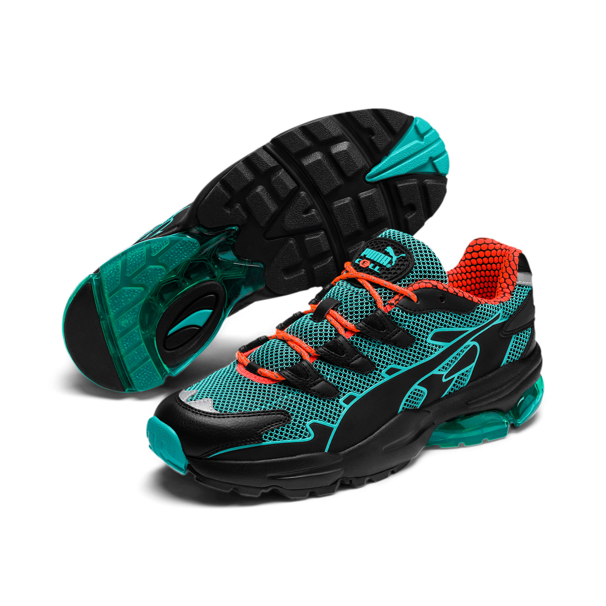 Thumbnail 3 of CELL Alien Kotto Trainers, Puma Black-Blue Turquoise, medium