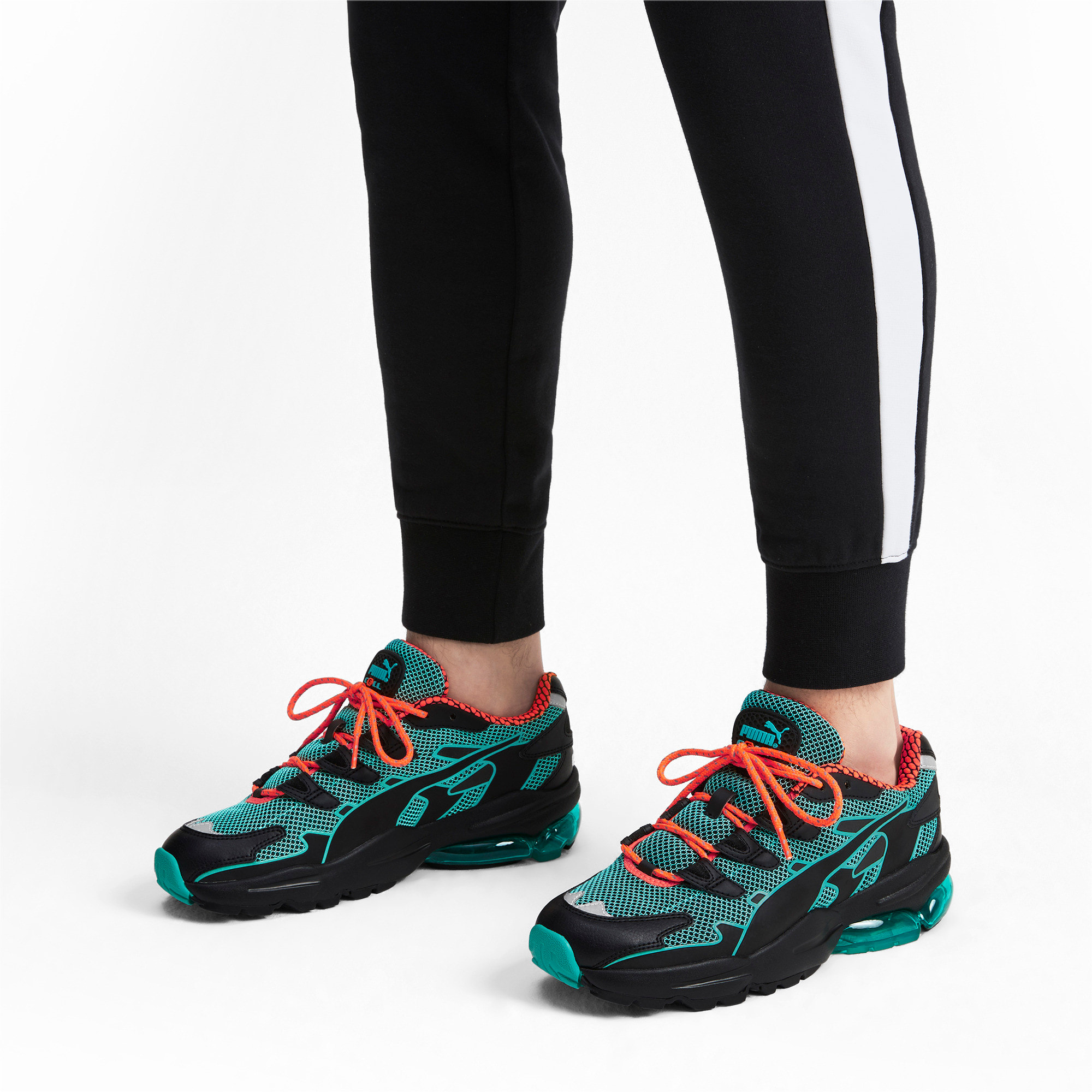 Thumbnail 2 of CELL Alien Kotto Trainers, Puma Black-Blue Turquoise, medium