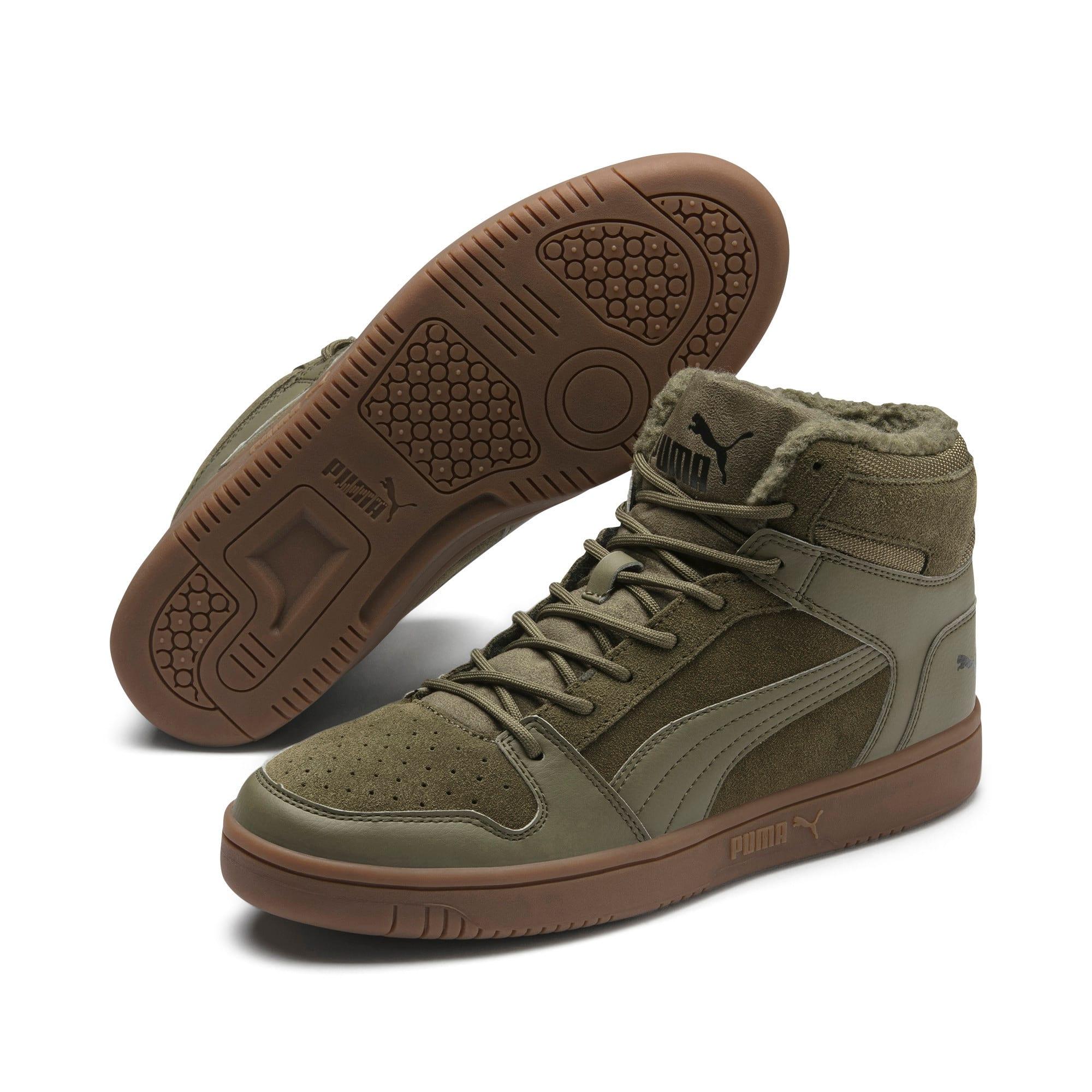 Thumbnail 3 of Rebound Lay Up SD Fur Sneaker, Burnt Olive-Puma Black-Gum, medium