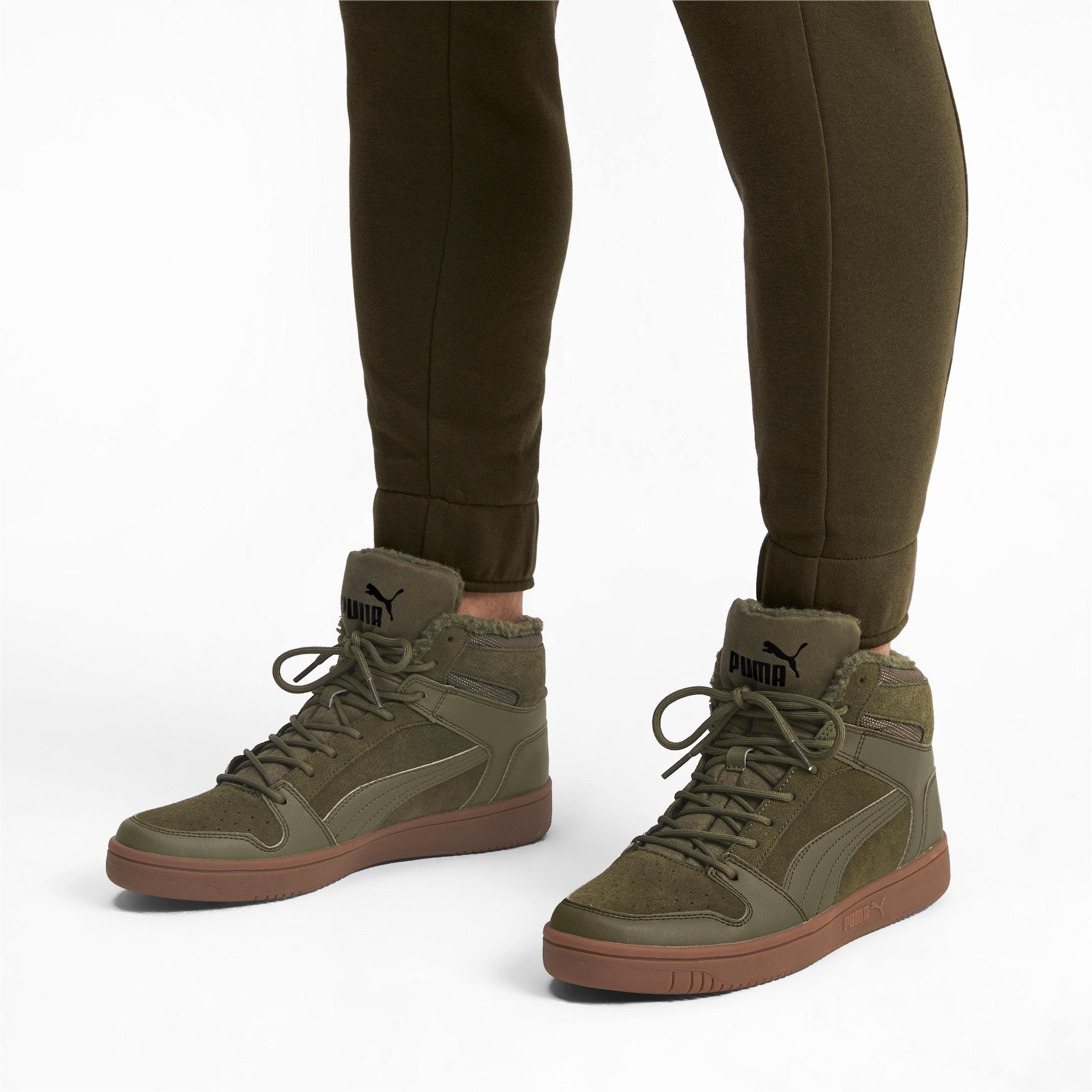 Thumbnail 2 of Rebound Lay Up SD Fur Sneaker, Burnt Olive-Puma Black-Gum, medium