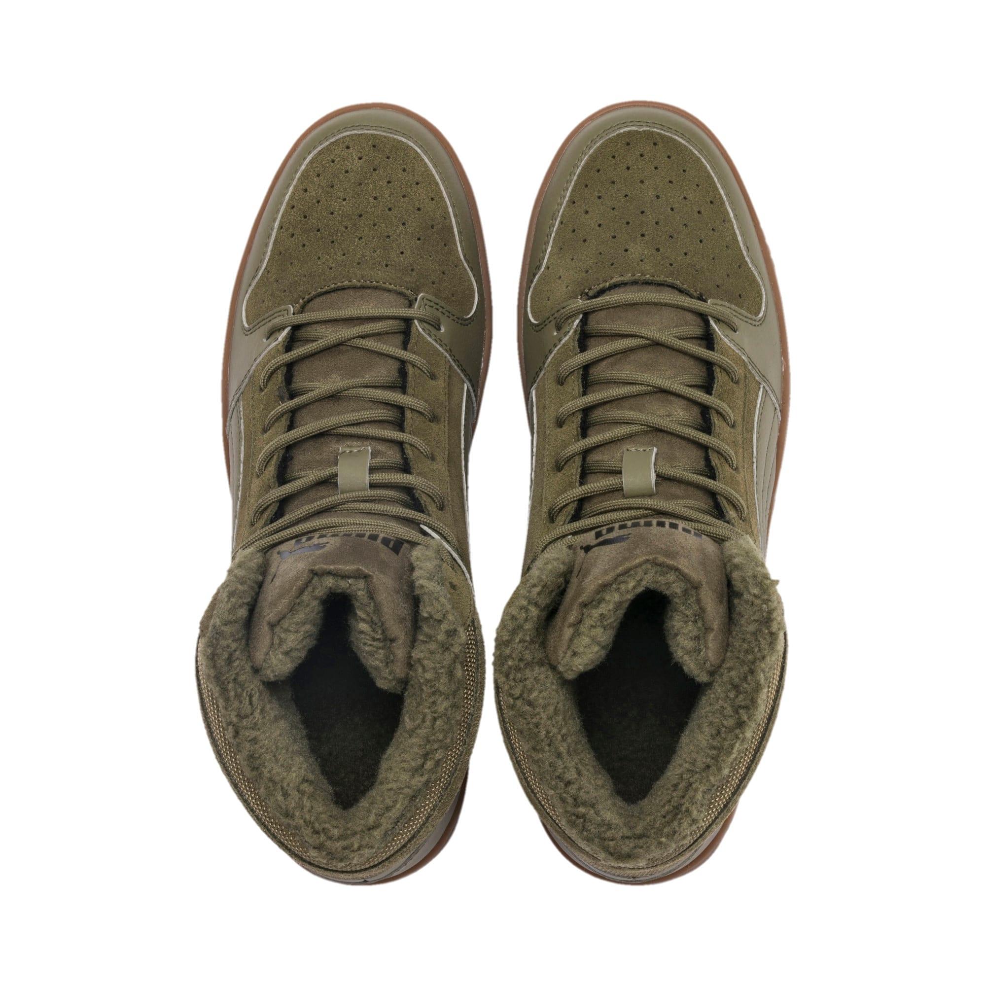 Thumbnail 7 of Rebound Lay Up SD Fur Sneaker, Burnt Olive-Puma Black-Gum, medium