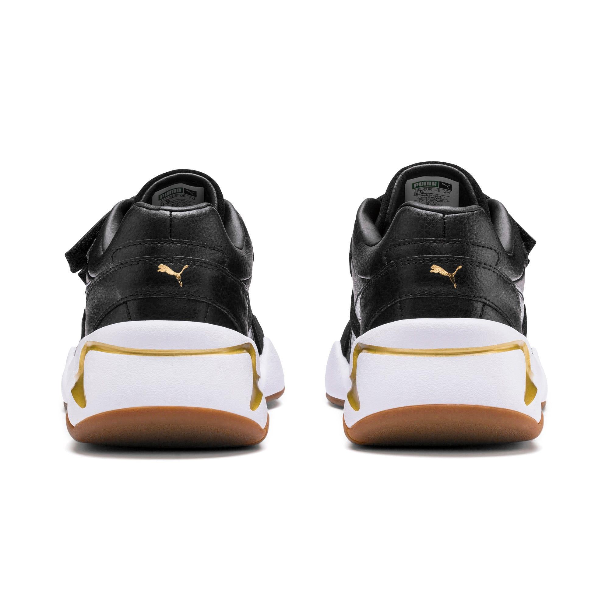 Thumbnail 4 of Nova V sportschoenen van leer voor dames, Puma Black-Puma Team Gold, medium